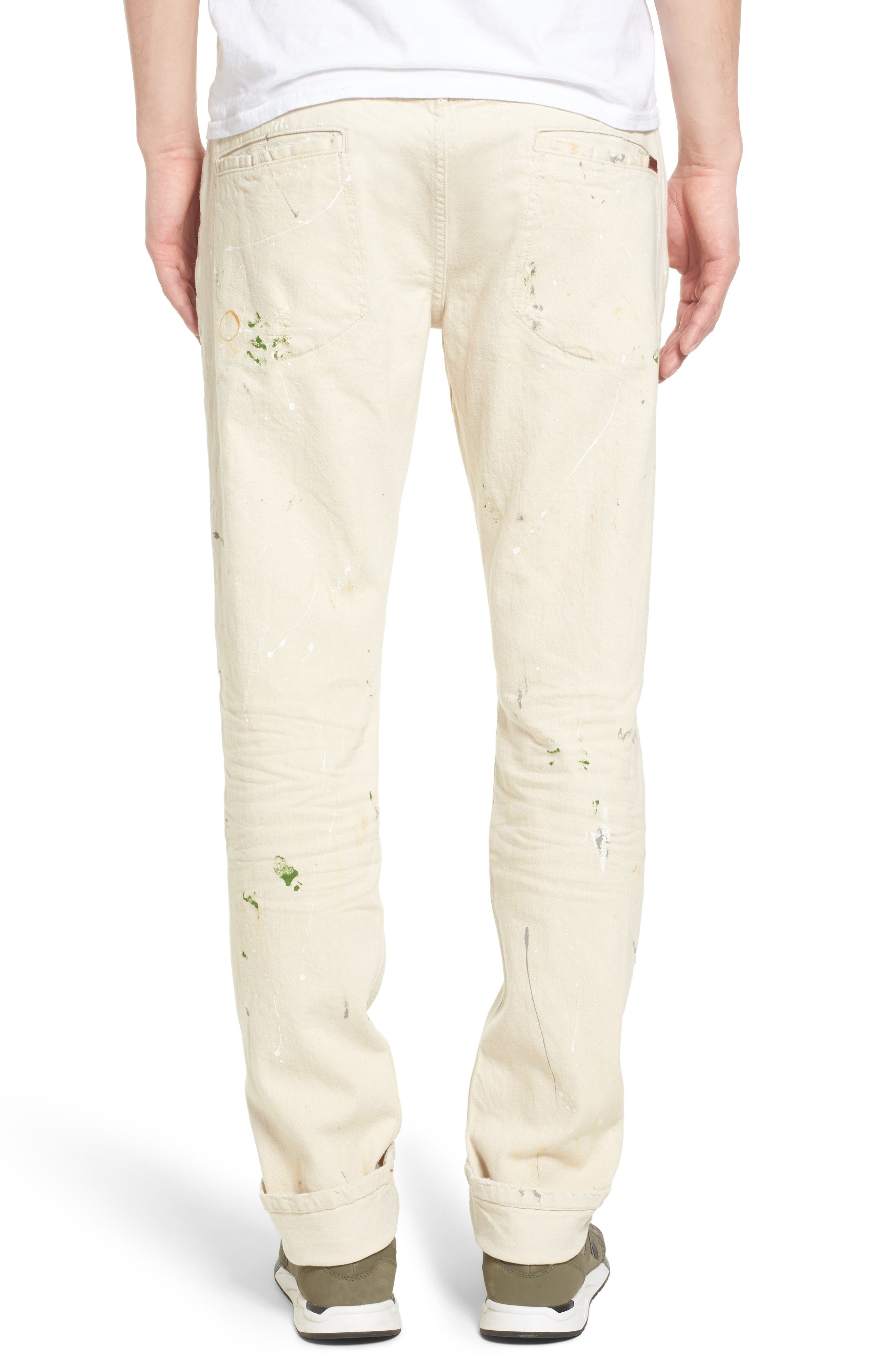 Standard Slouchy Slim Fit Jeans,                             Alternate thumbnail 2, color,                             110