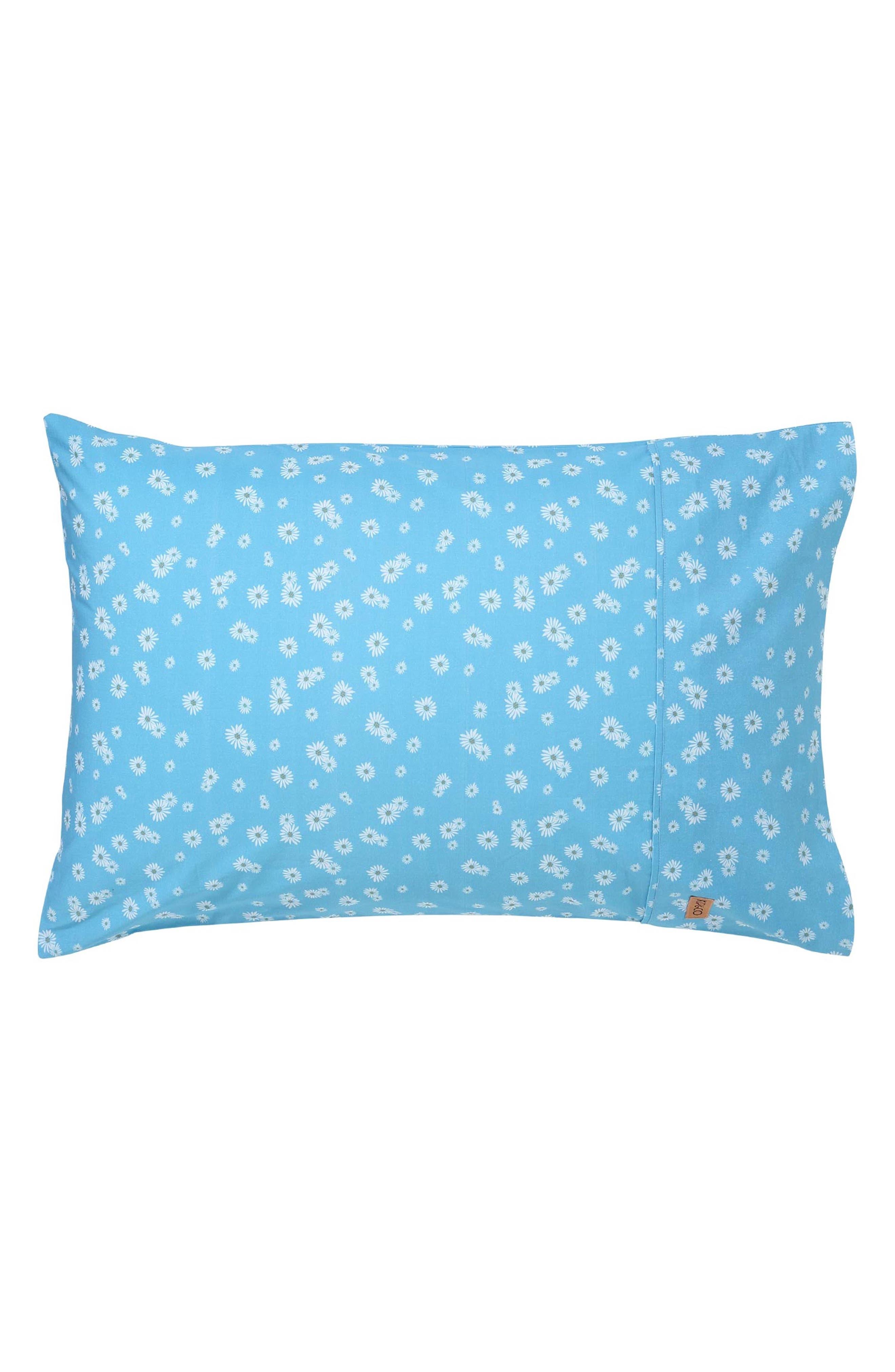 Lazy Daisy Cotton Pillowcase, Main, color, MULTI