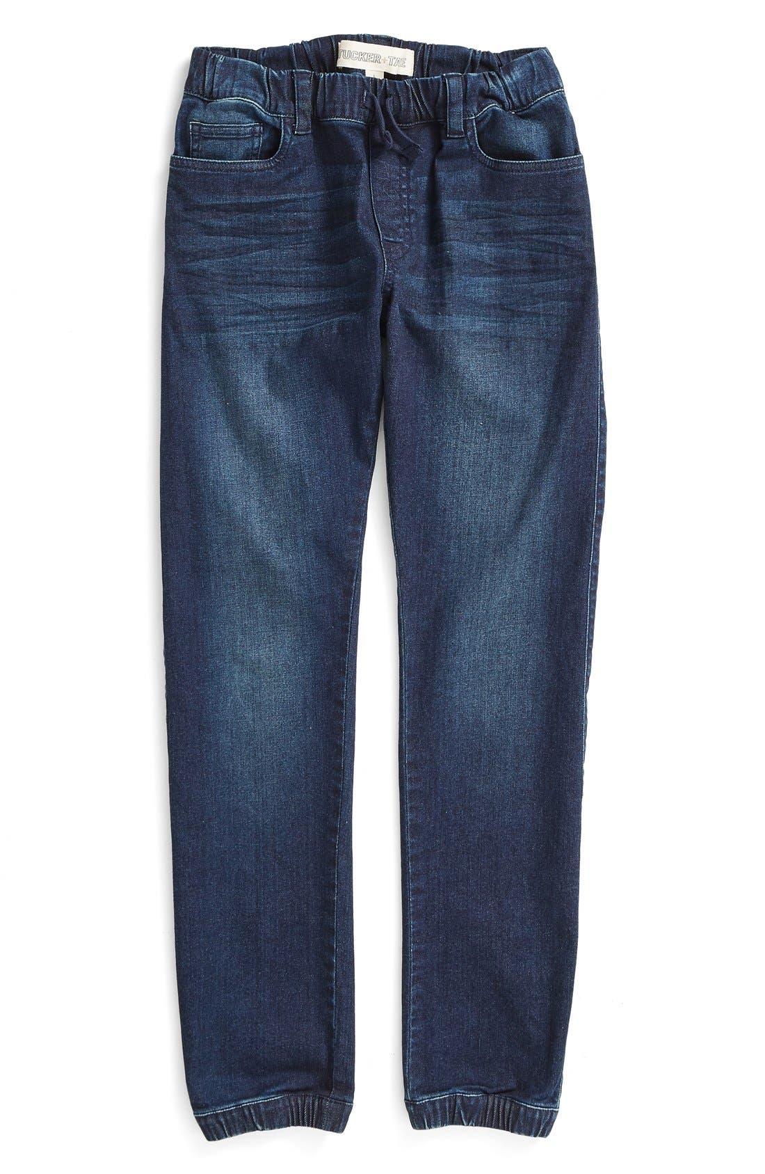 Stretch Denim Jogger Pants,                         Main,                         color, 400