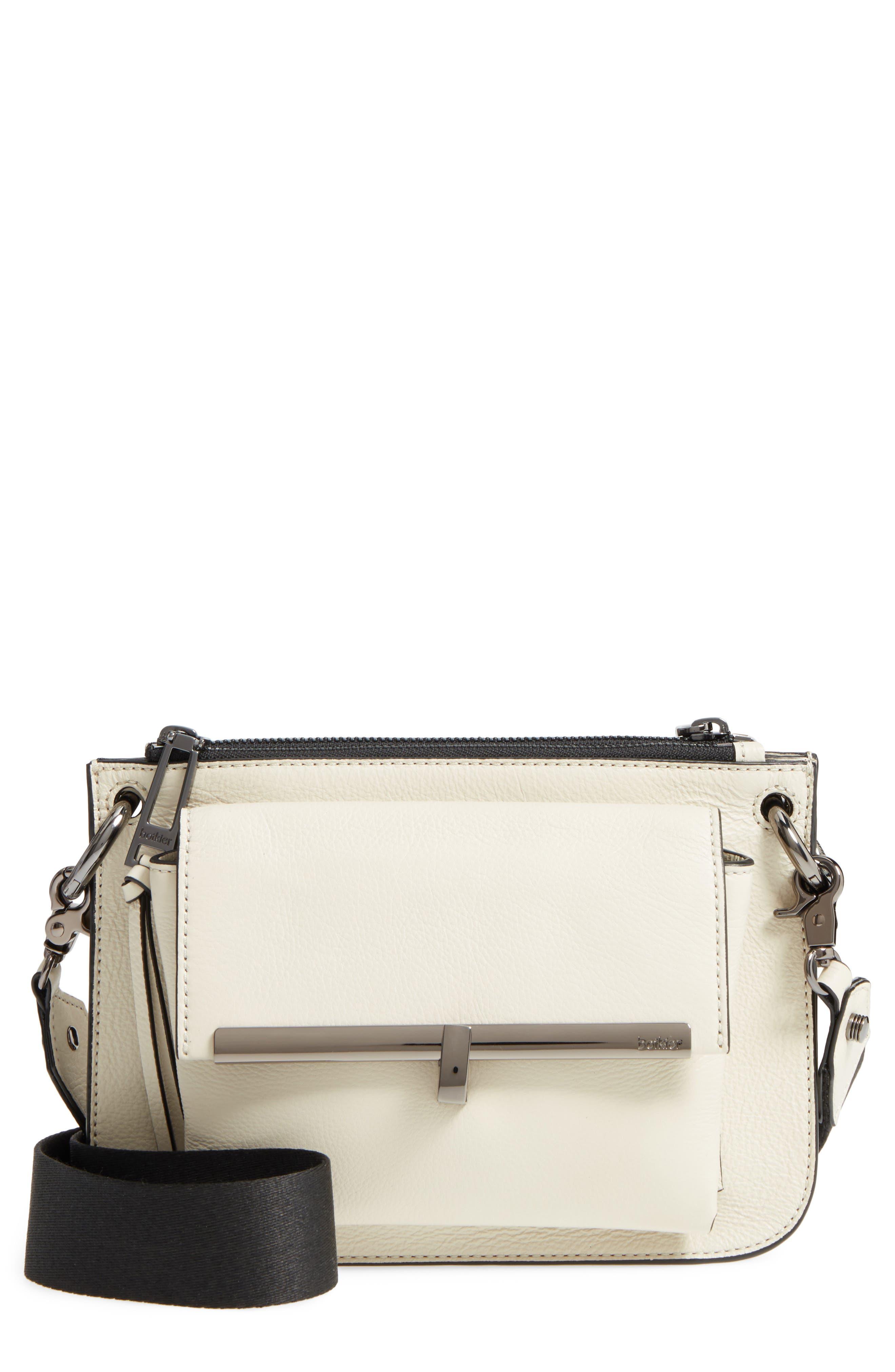Bleeker Leather Double Shoulder Bag,                             Main thumbnail 6, color,
