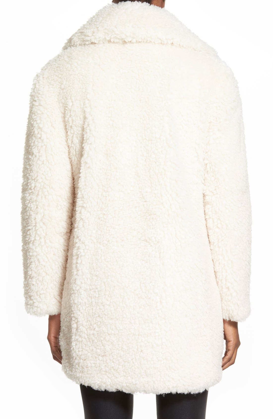 'Teddy Bear' Notch Collar Reversible Faux Fur Coat,                             Alternate thumbnail 15, color,