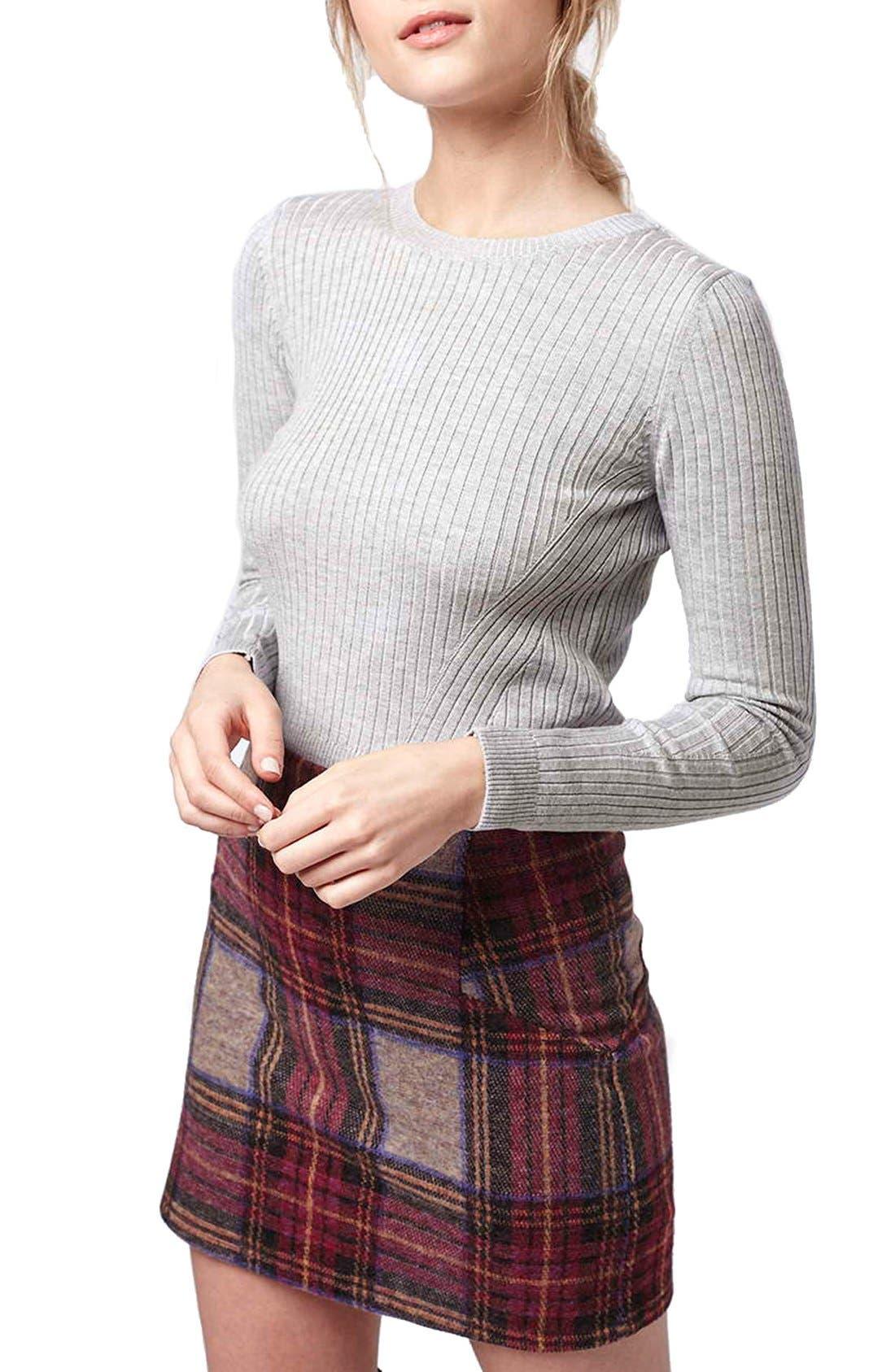 Ribbed Long Sleeve Top,                         Main,                         color, 050
