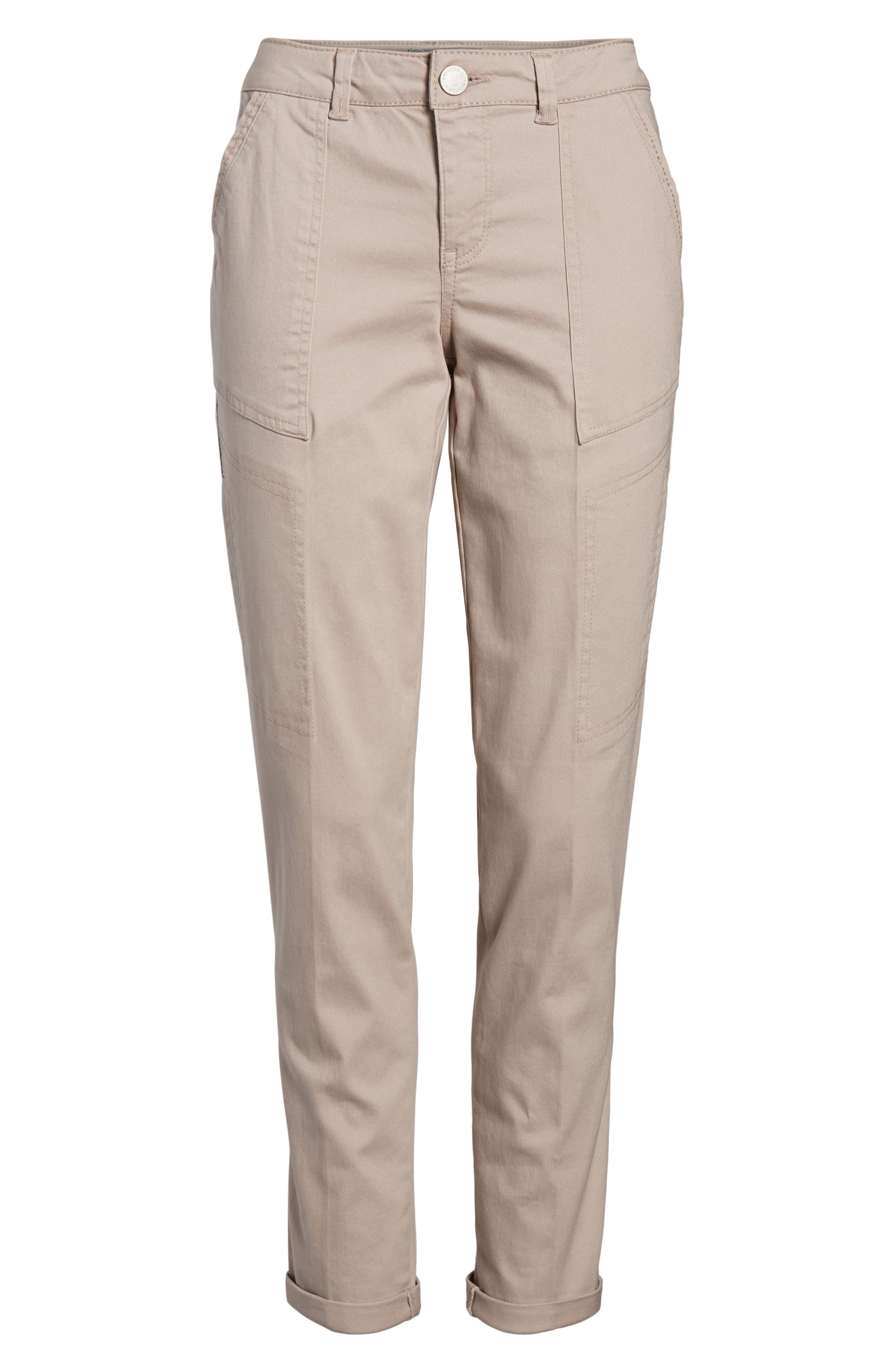 Twill Cargo Pants,                             Alternate thumbnail 7, color,                             FLAX