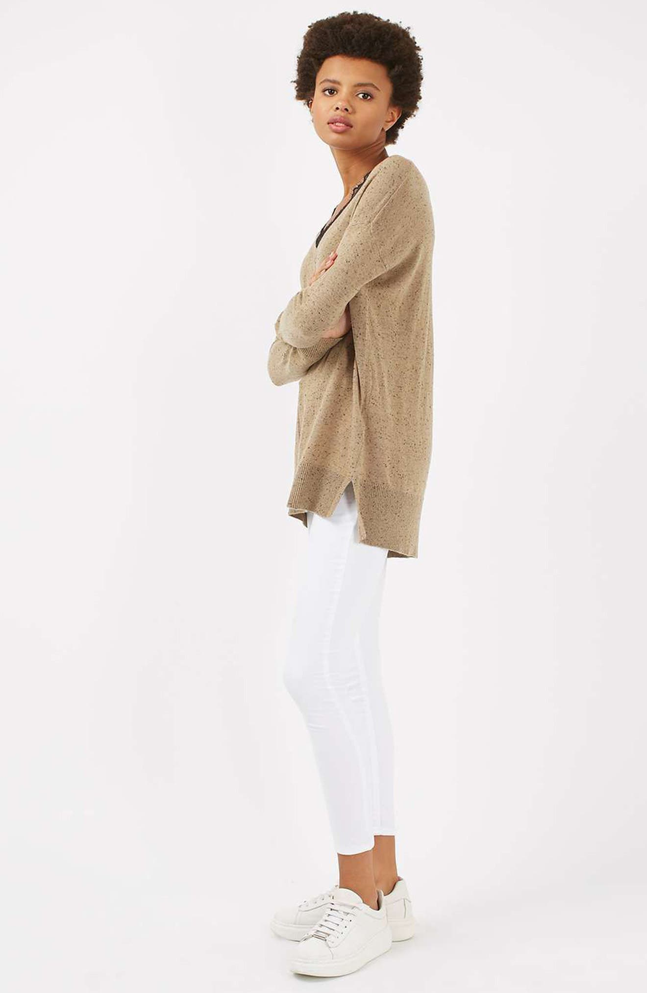 Lace V-Neck Sweater Tunic,                             Alternate thumbnail 11, color,                             230