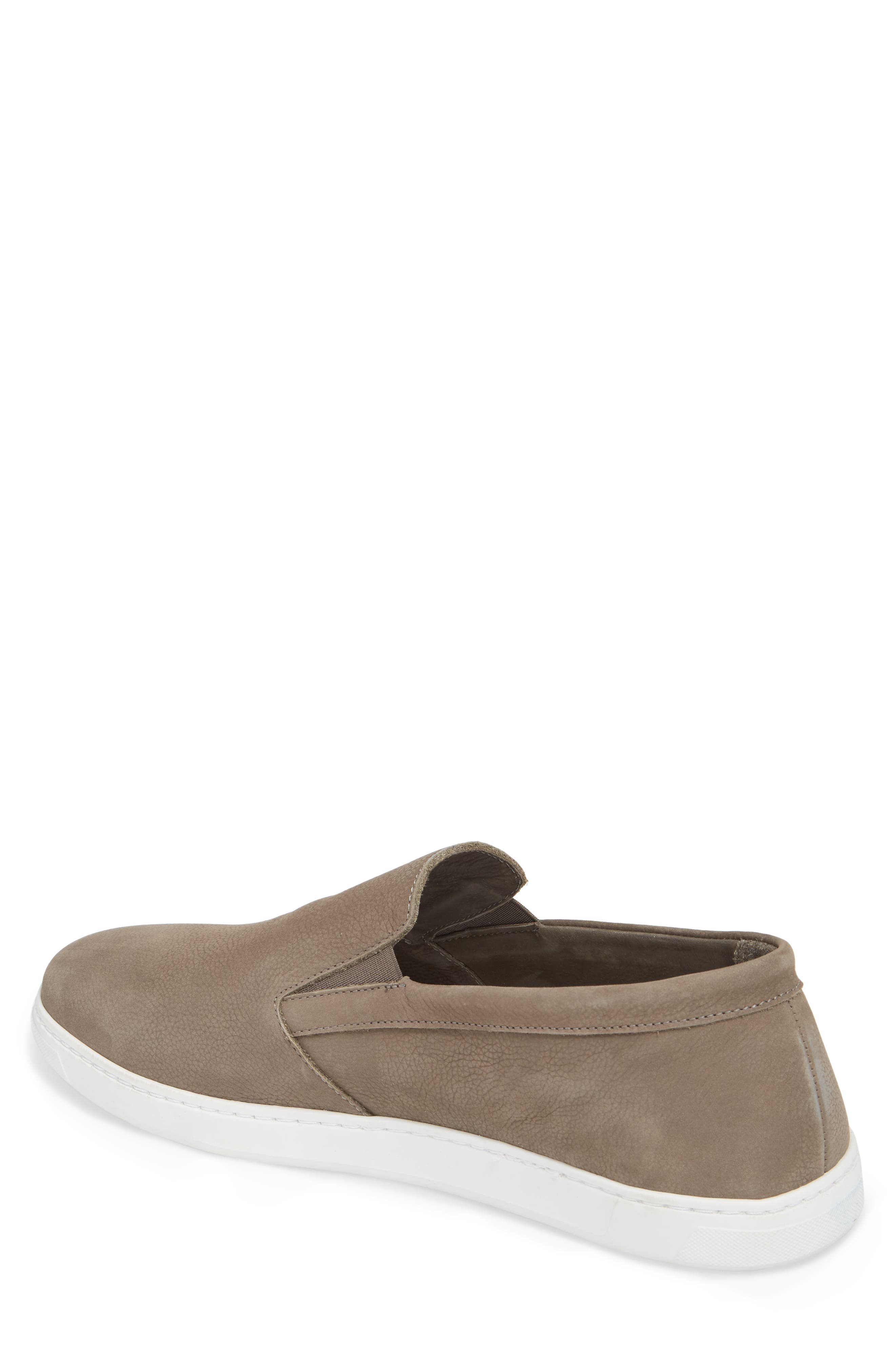 VINCE CAMUTO,                             Neff Slip-On Sneaker,                             Alternate thumbnail 2, color,                             DARK GREY LEATHER