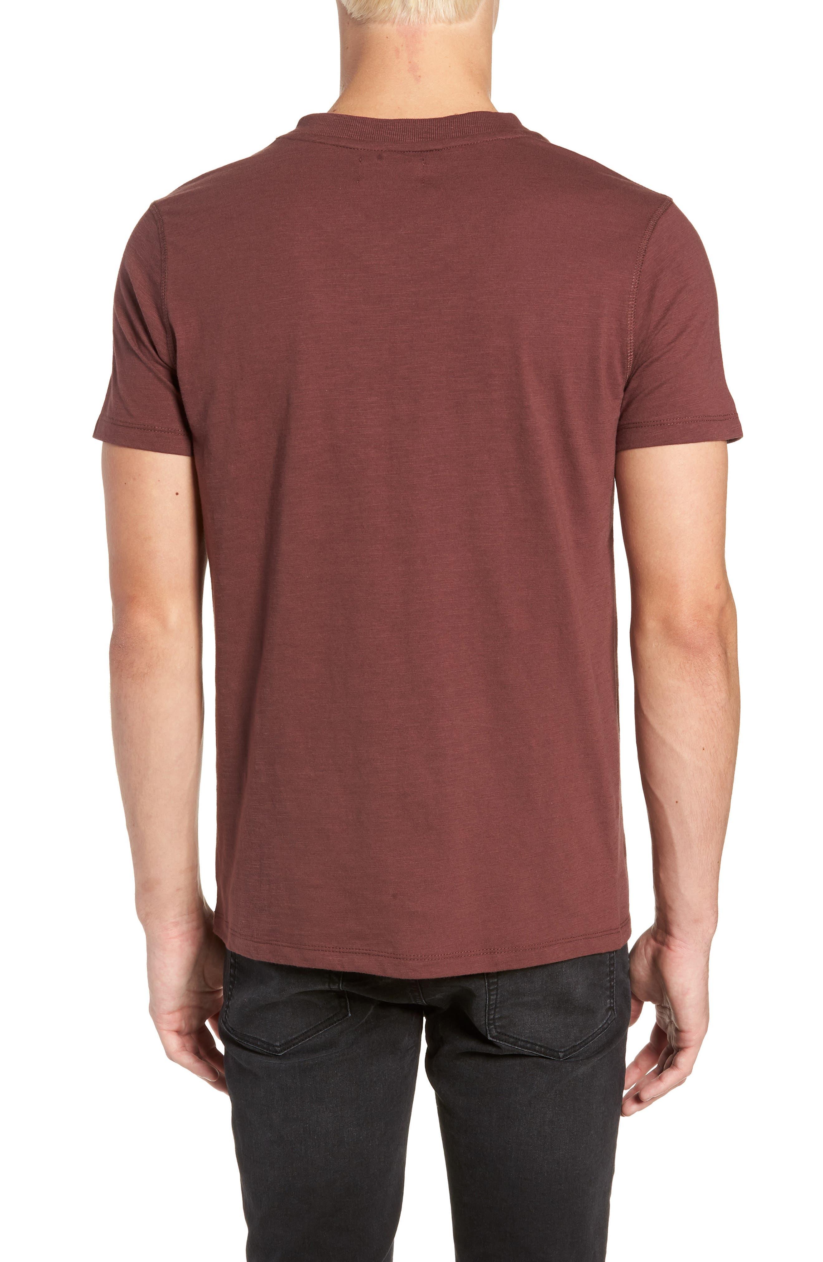 Soccer V-Neck T-Shirt,                             Alternate thumbnail 2, color,                             BURGUNDY