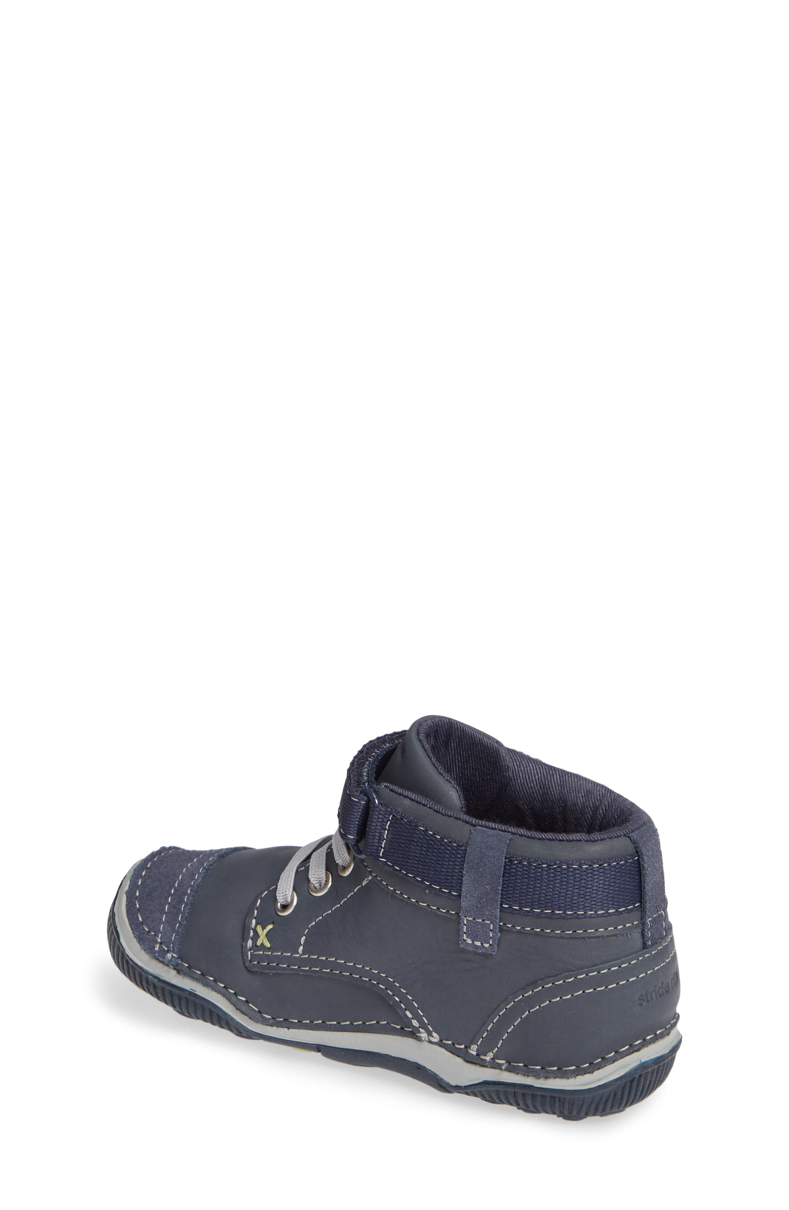 'Garrett' High Top Bootie Sneaker,                             Alternate thumbnail 2, color,                             NAVY