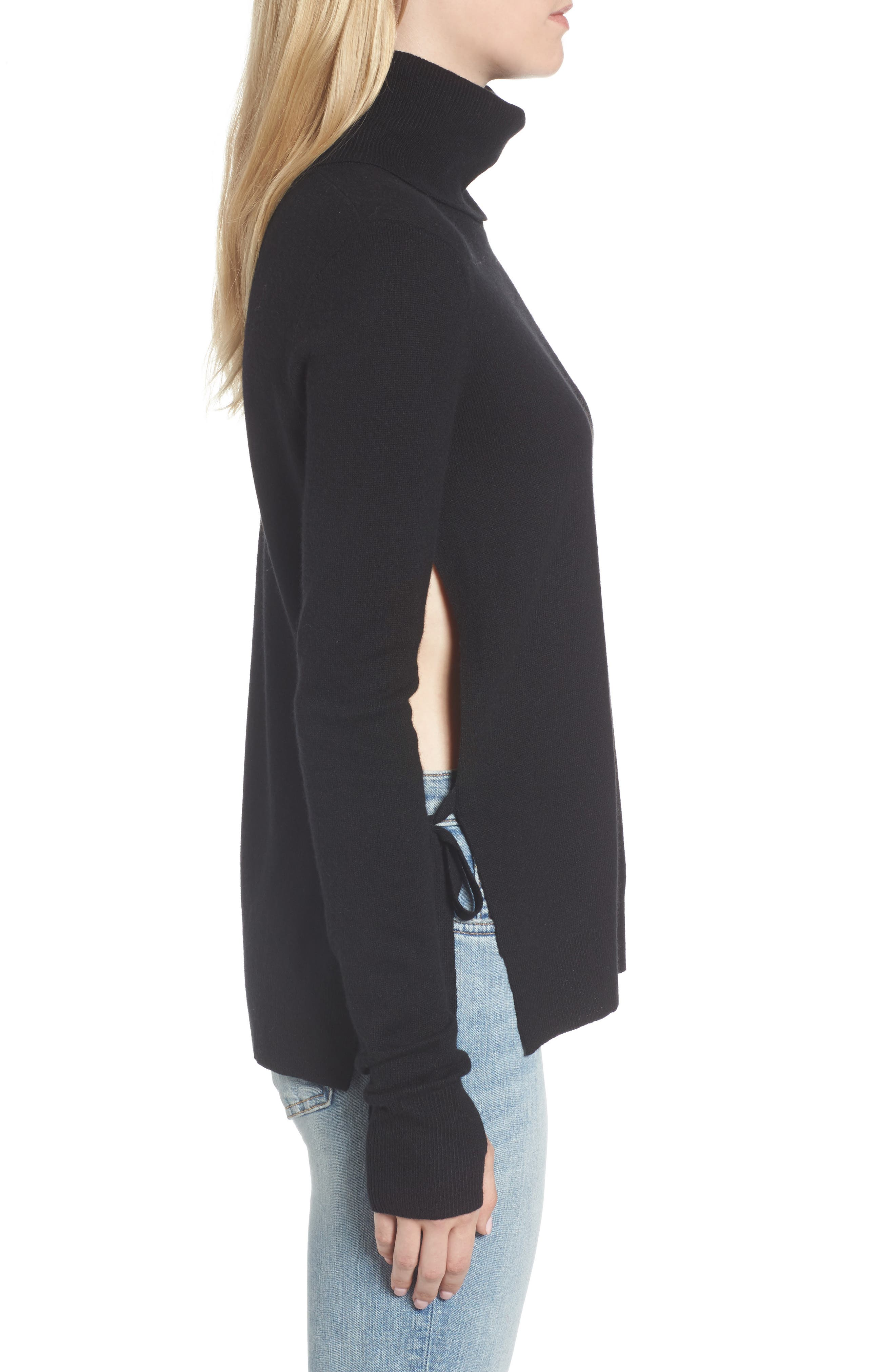 Distressed Turtleneck Sweater,                             Alternate thumbnail 5, color,