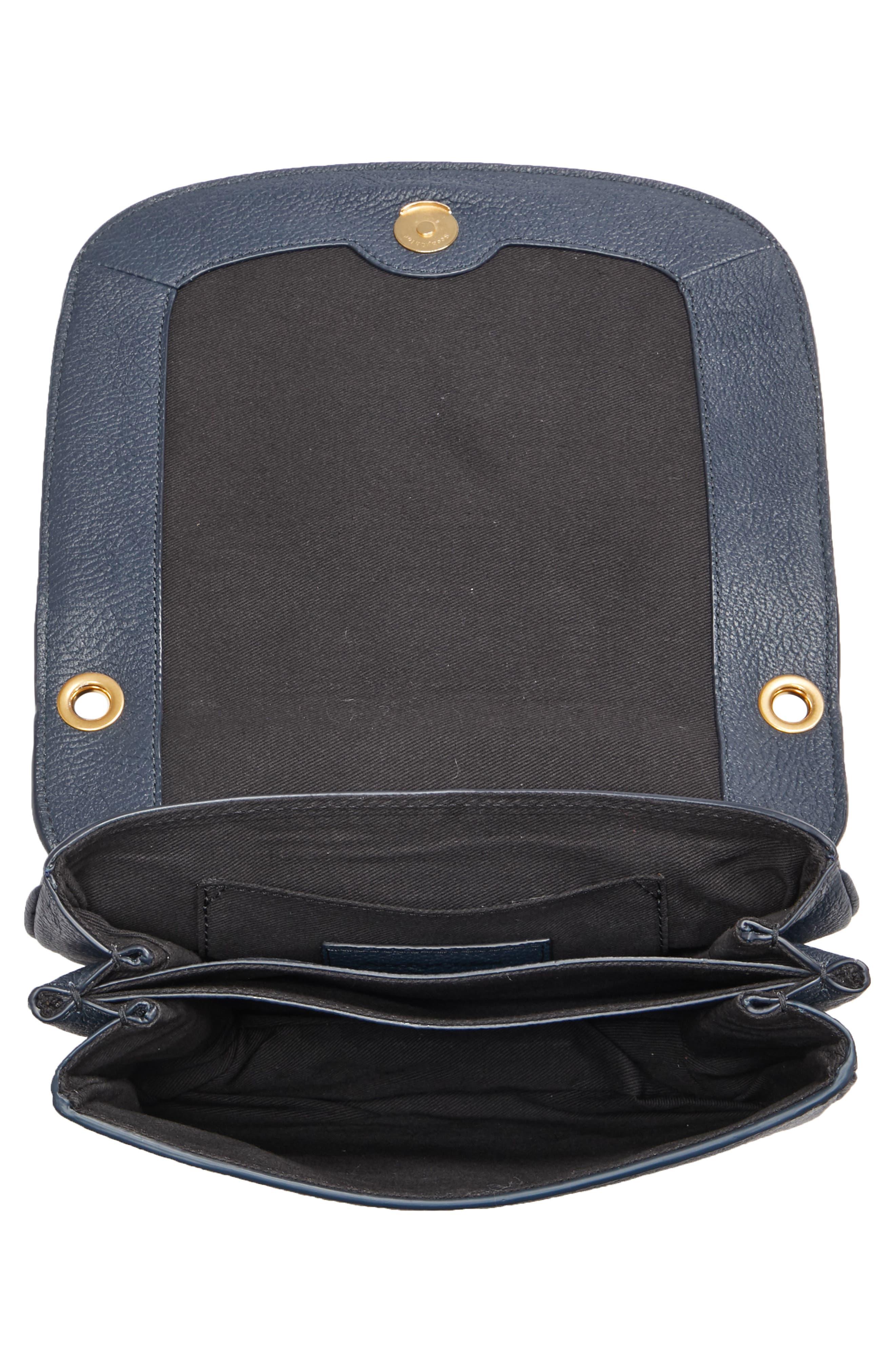 Hana Leather Shoulder Bag,                             Alternate thumbnail 5, color,                             401