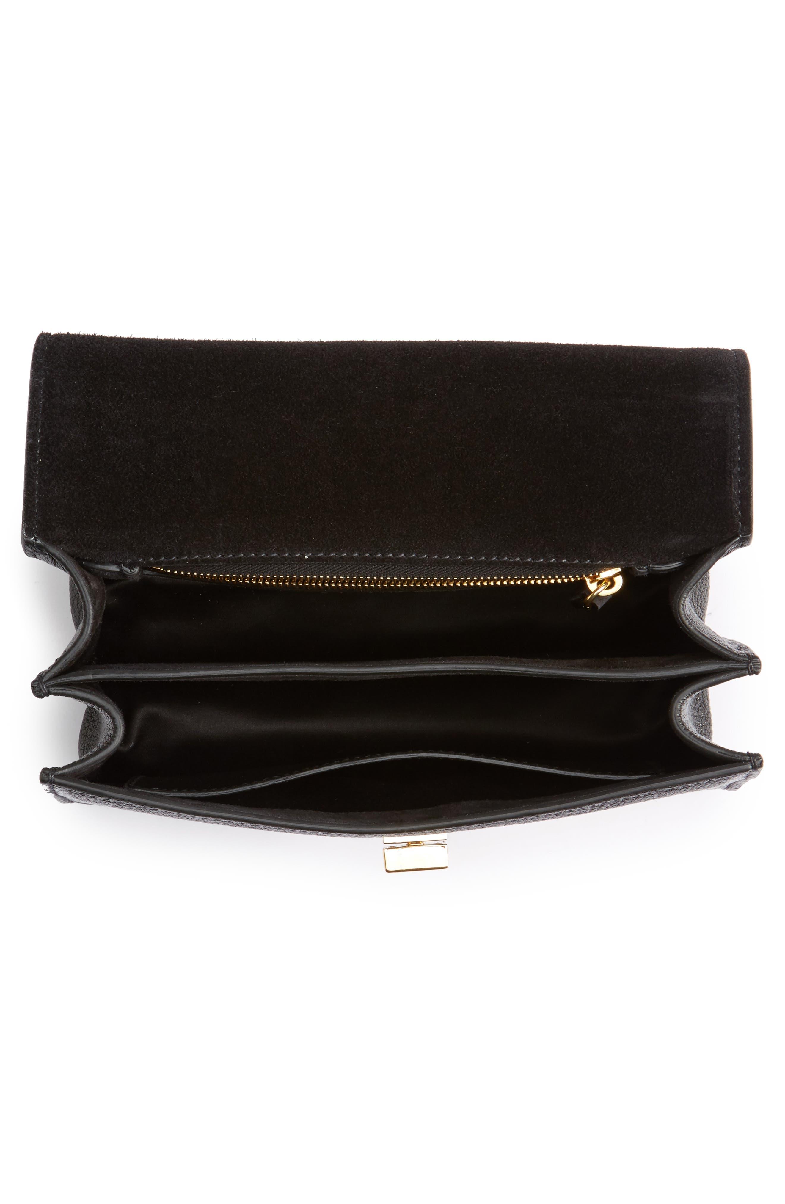 Madras Leather Crossbody Bag,                             Alternate thumbnail 4, color,                             001