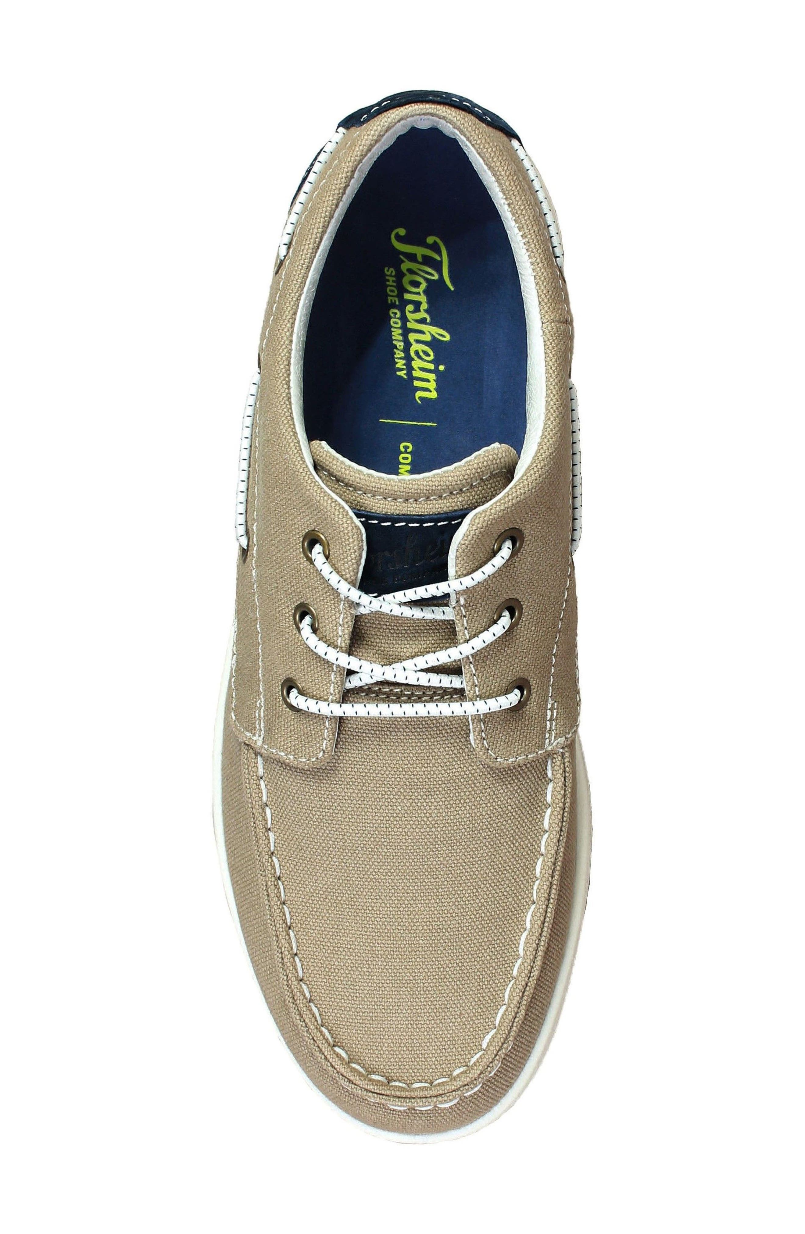 FLORSHEIM,                             Edge Boat Shoe,                             Alternate thumbnail 5, color,                             KHAKI CANVAS