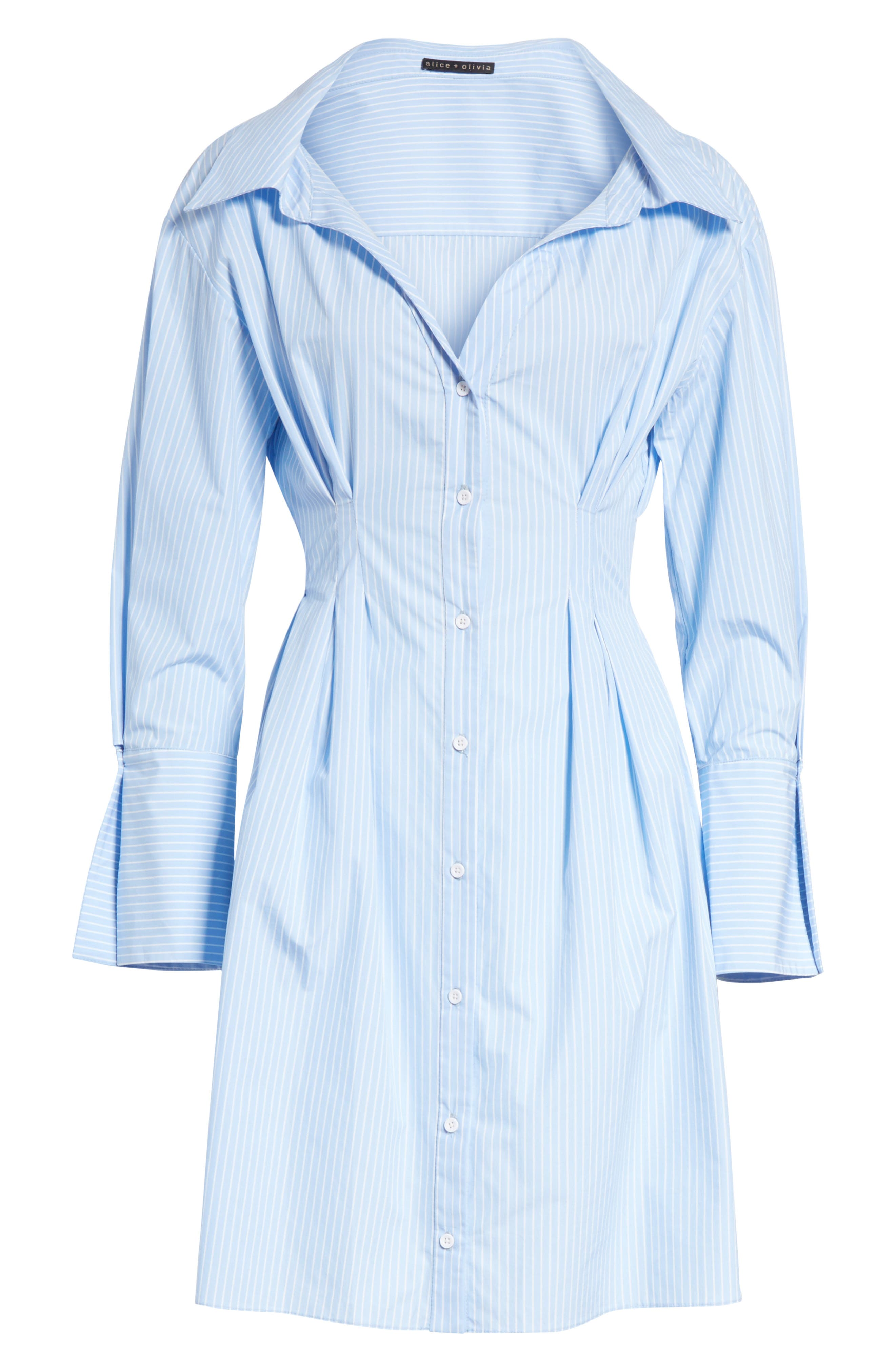 Vergie Seamed Shirtdress,                             Alternate thumbnail 6, color,                             490