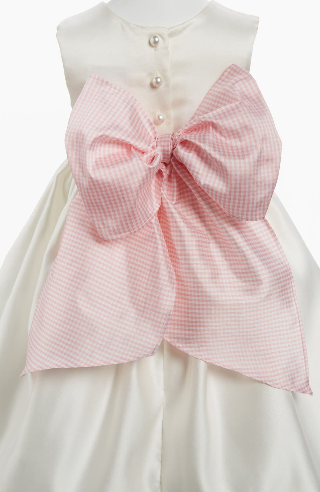 Gingham Sash,                             Main thumbnail 1, color,                             PINK GINGHAM