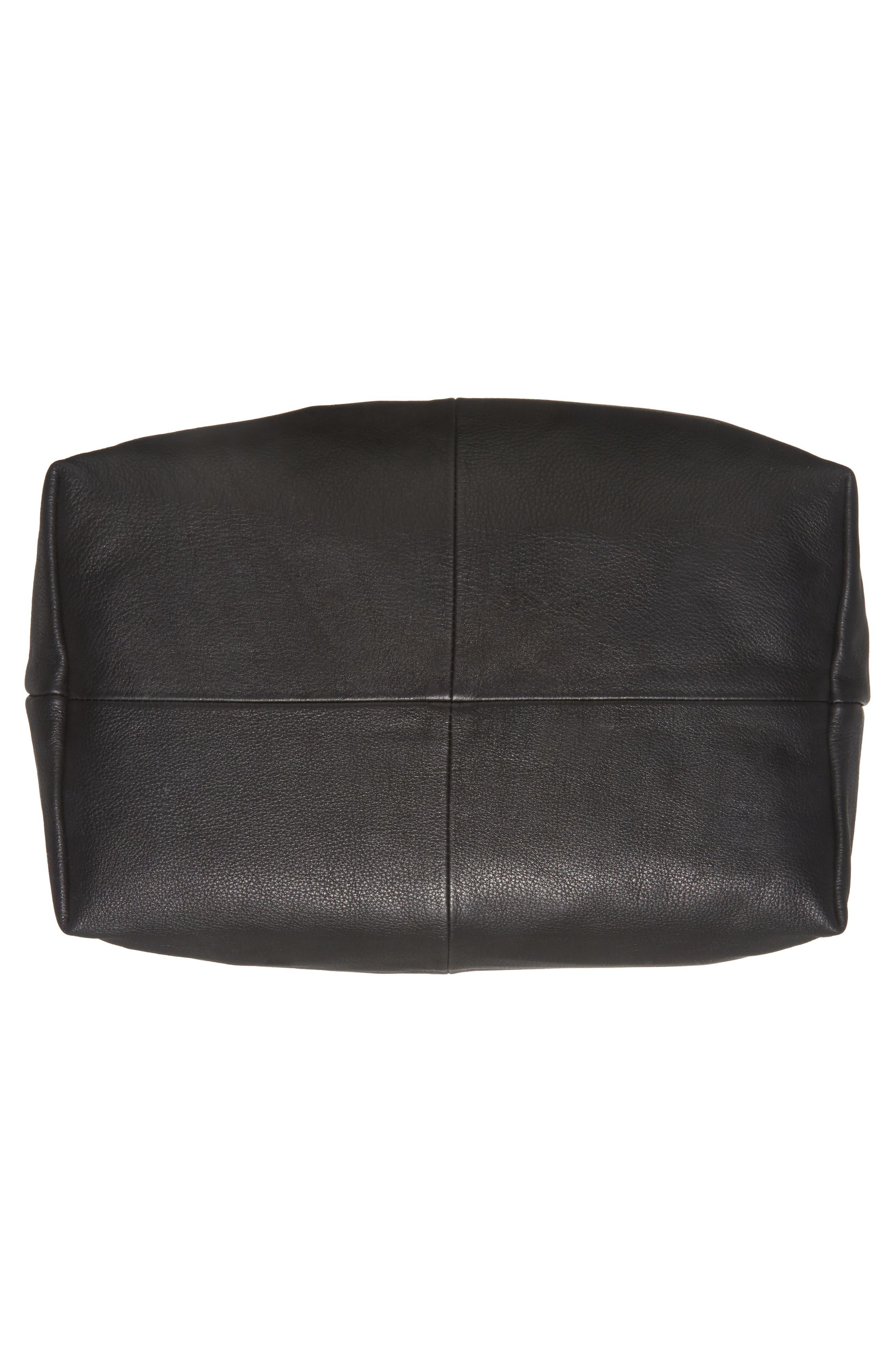 Premium Leather Jasmine Hobo Bag,                             Alternate thumbnail 6, color,                             001