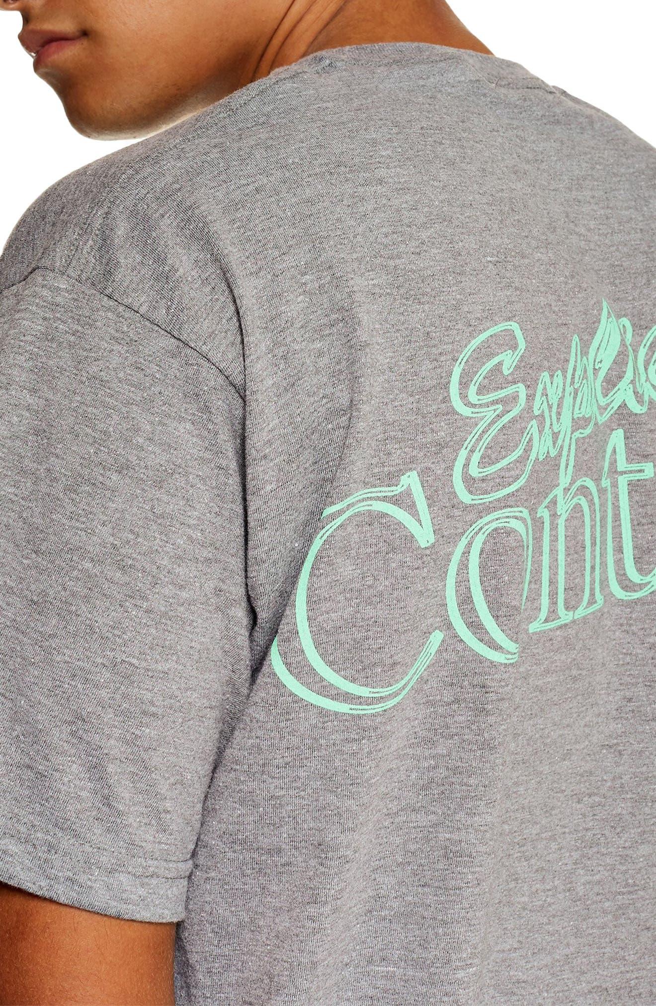 Explicit Content T-Shirt,                             Alternate thumbnail 3, color,                             GREY