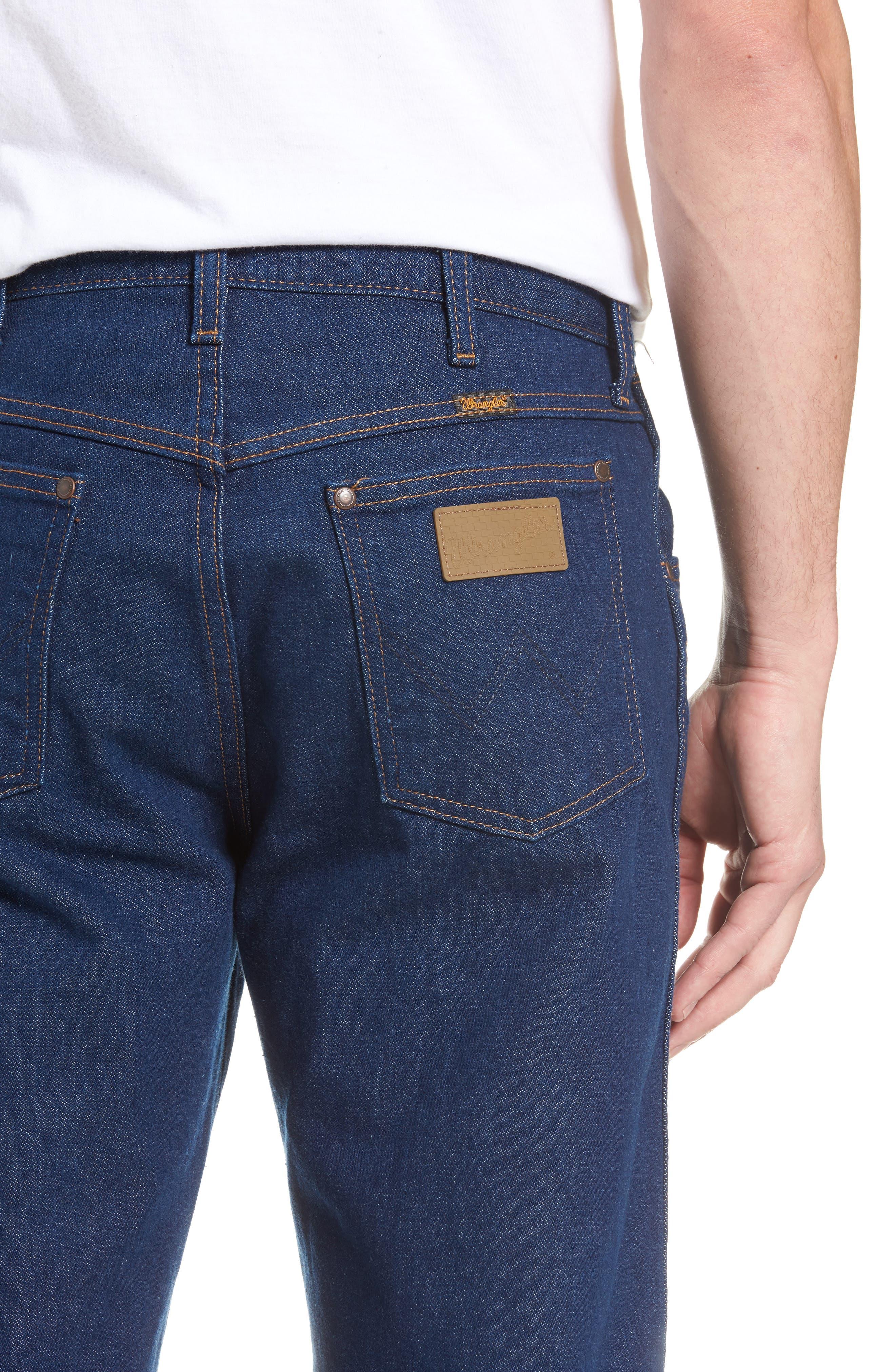 x Wrangler Straight Leg Jeans,                             Alternate thumbnail 4, color,                             PREWASH INDIGO
