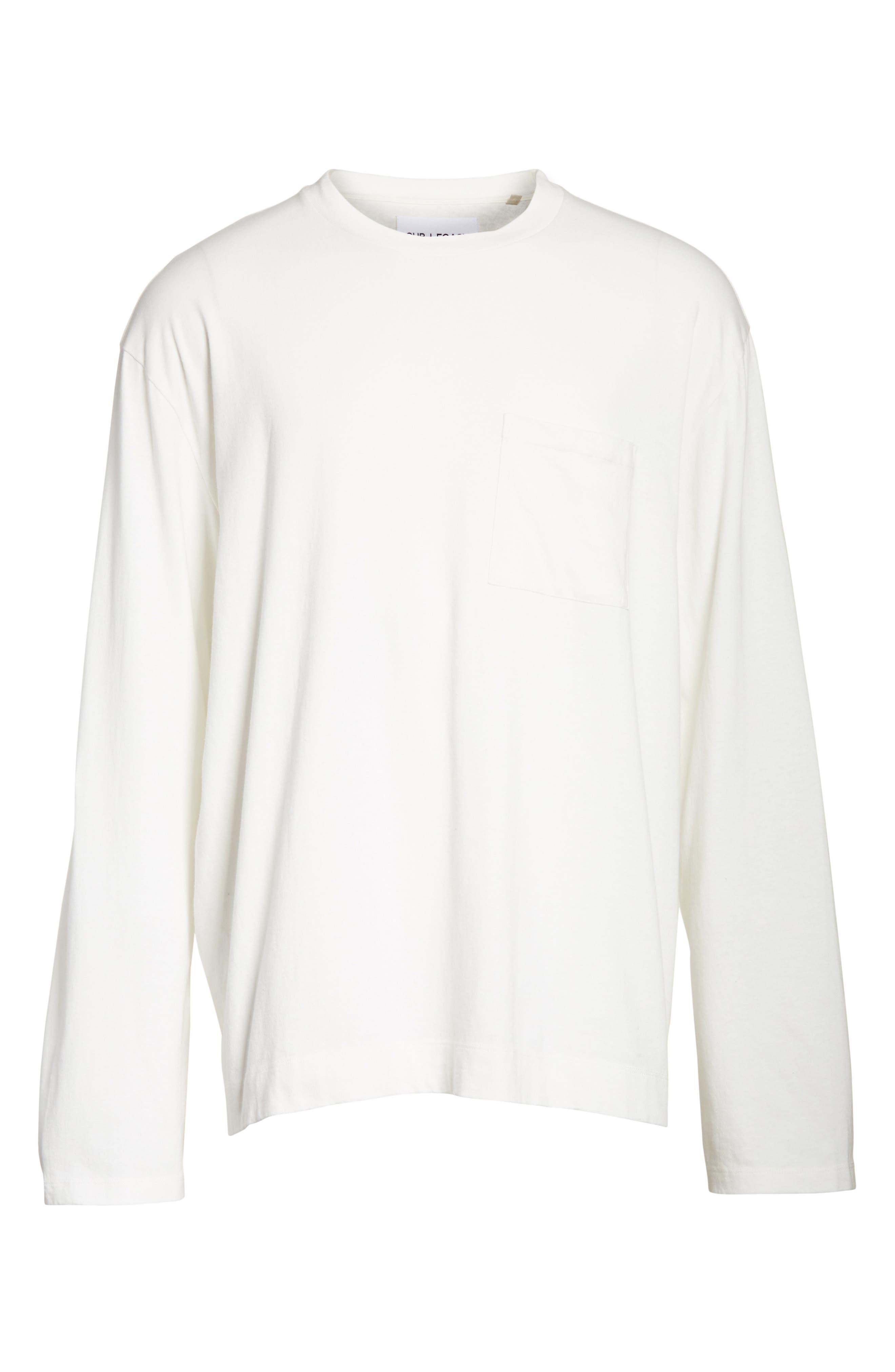 Box Fit Pocket T-Shirt,                             Alternate thumbnail 6, color,                             WHITE