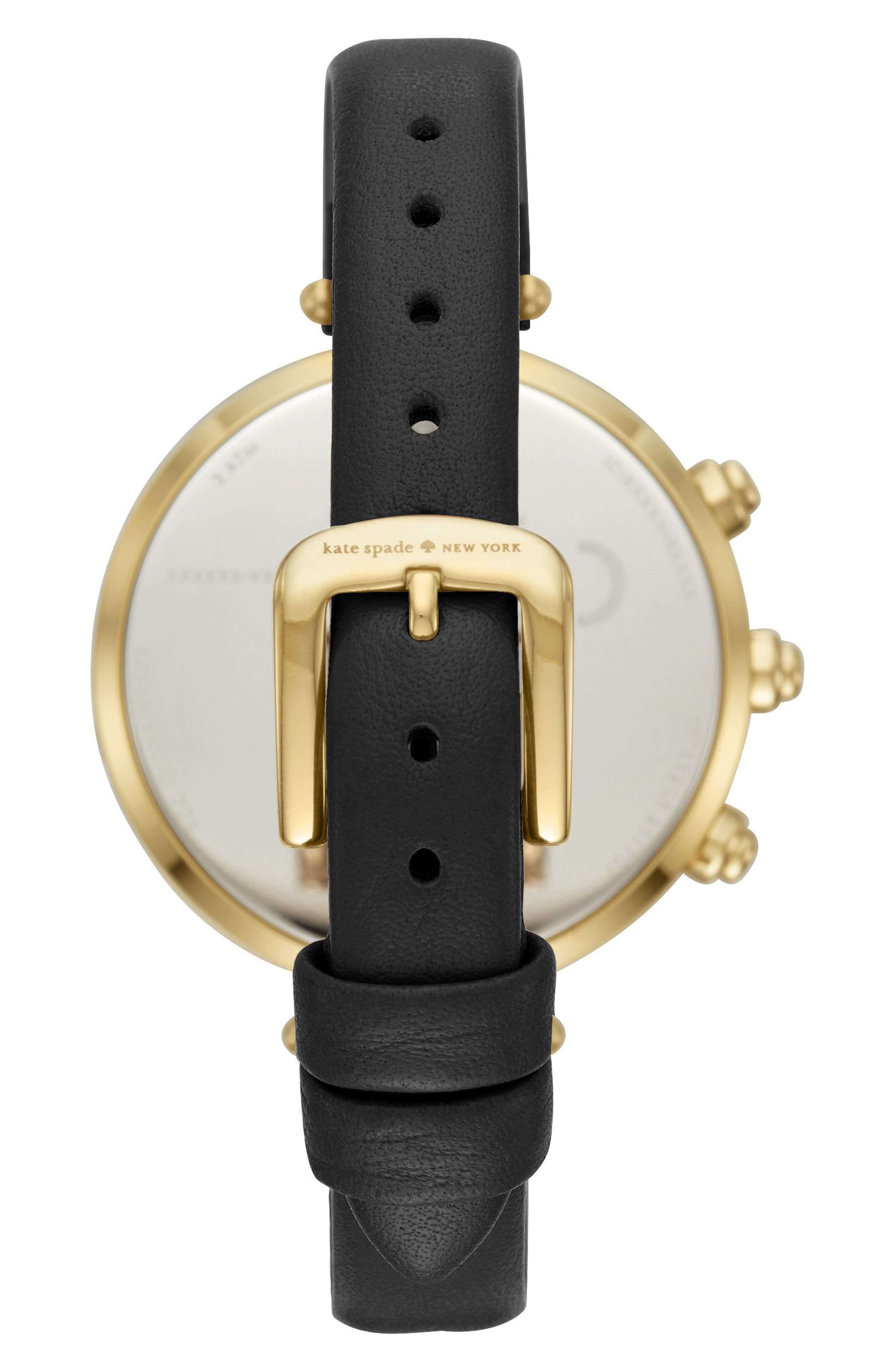 holland hybrid leather strap watch, 37mm,                             Alternate thumbnail 2, color,                             002