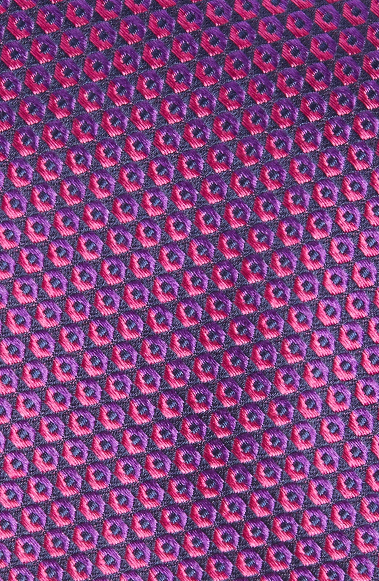 Geometric Silk Tie,                             Alternate thumbnail 2, color,                             654