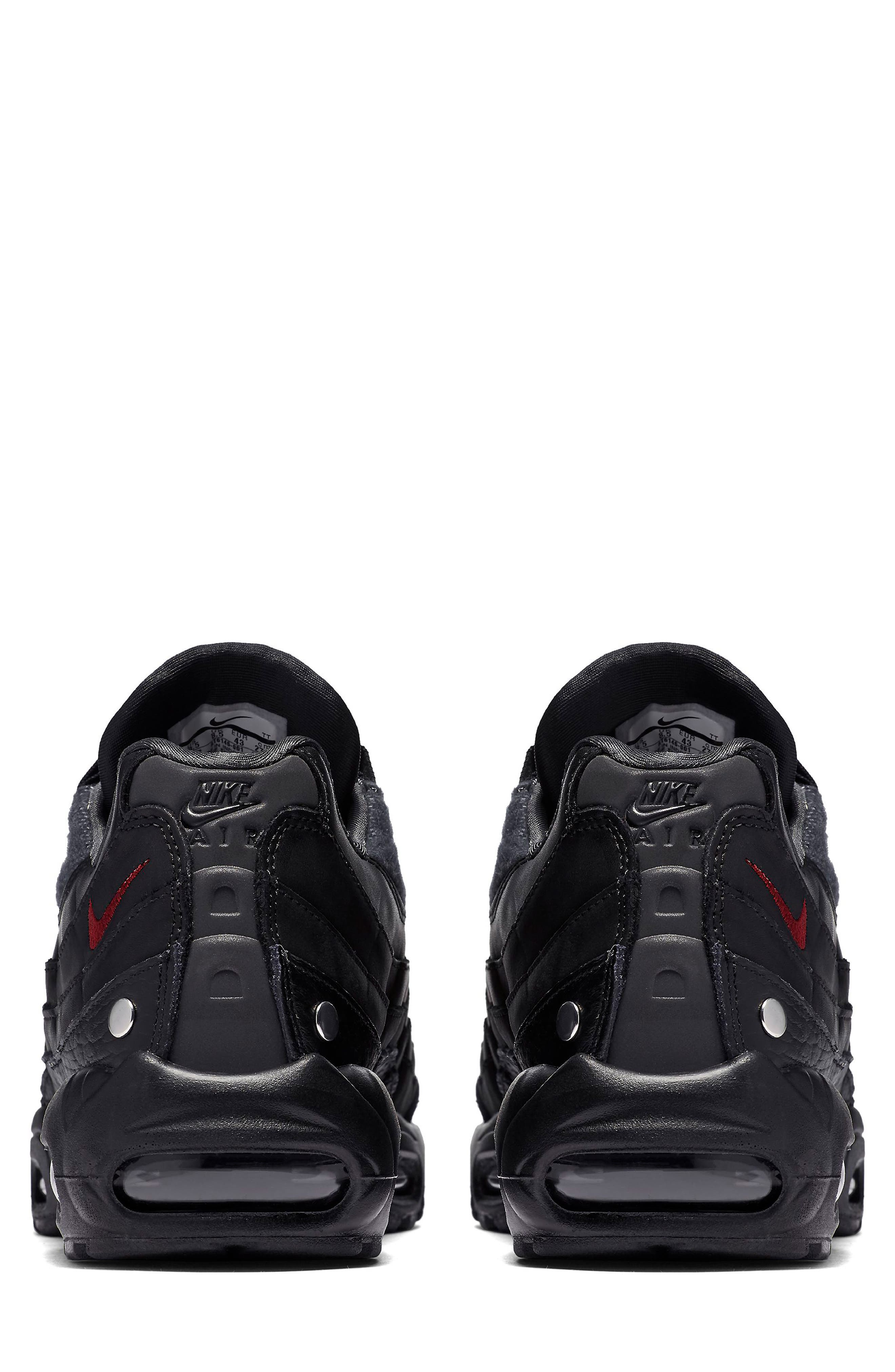 Air Max 95 NRG Sneaker,                             Alternate thumbnail 2, color,                             BLACK/ TEAM RED/ ANTHRACITE