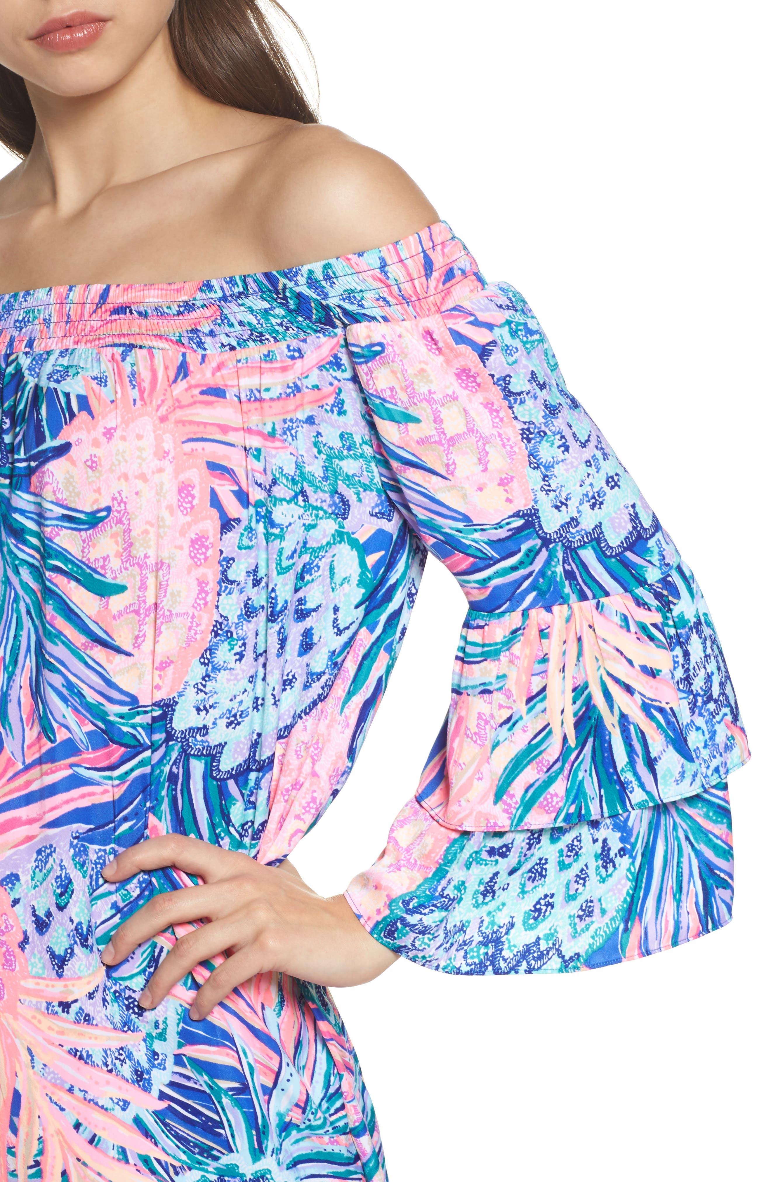 Tobyn Off the Shoulder Dress,                             Alternate thumbnail 4, color,                             699