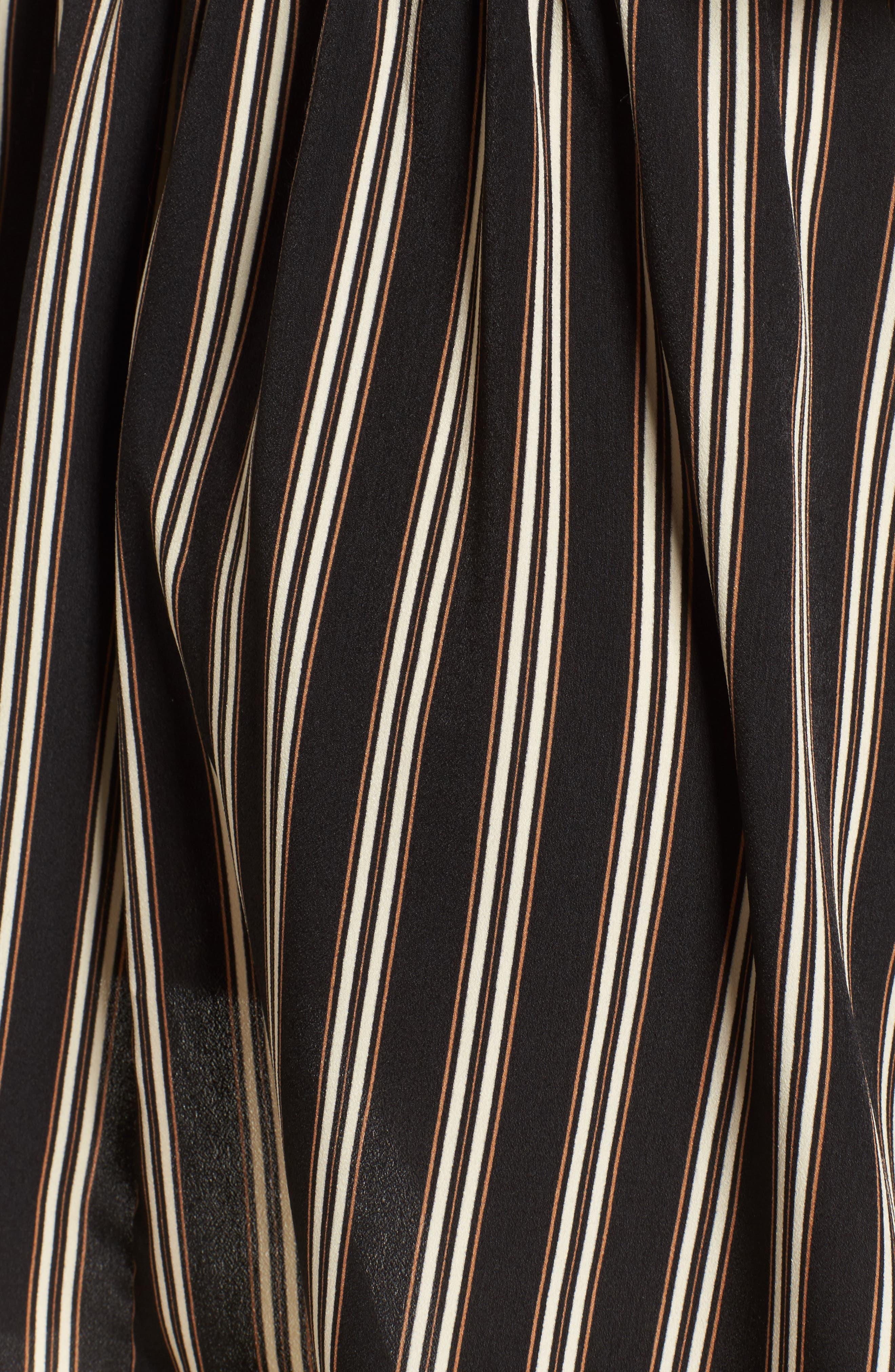 Stripe Halter Skater Dress,                             Alternate thumbnail 5, color,                             003
