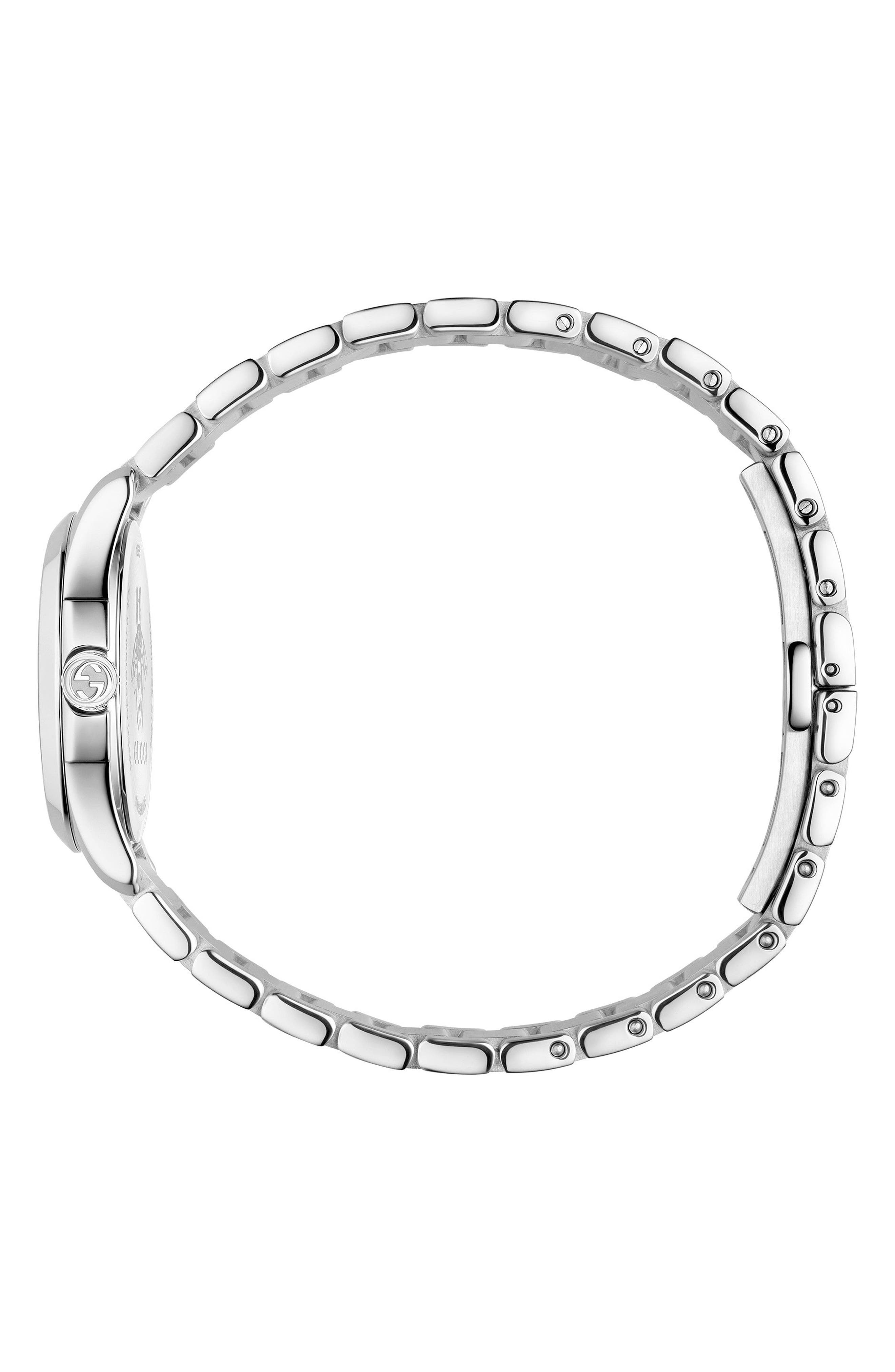 G-Timeless Bracelet Watch, 27mm,                             Alternate thumbnail 3, color,                             SILVER