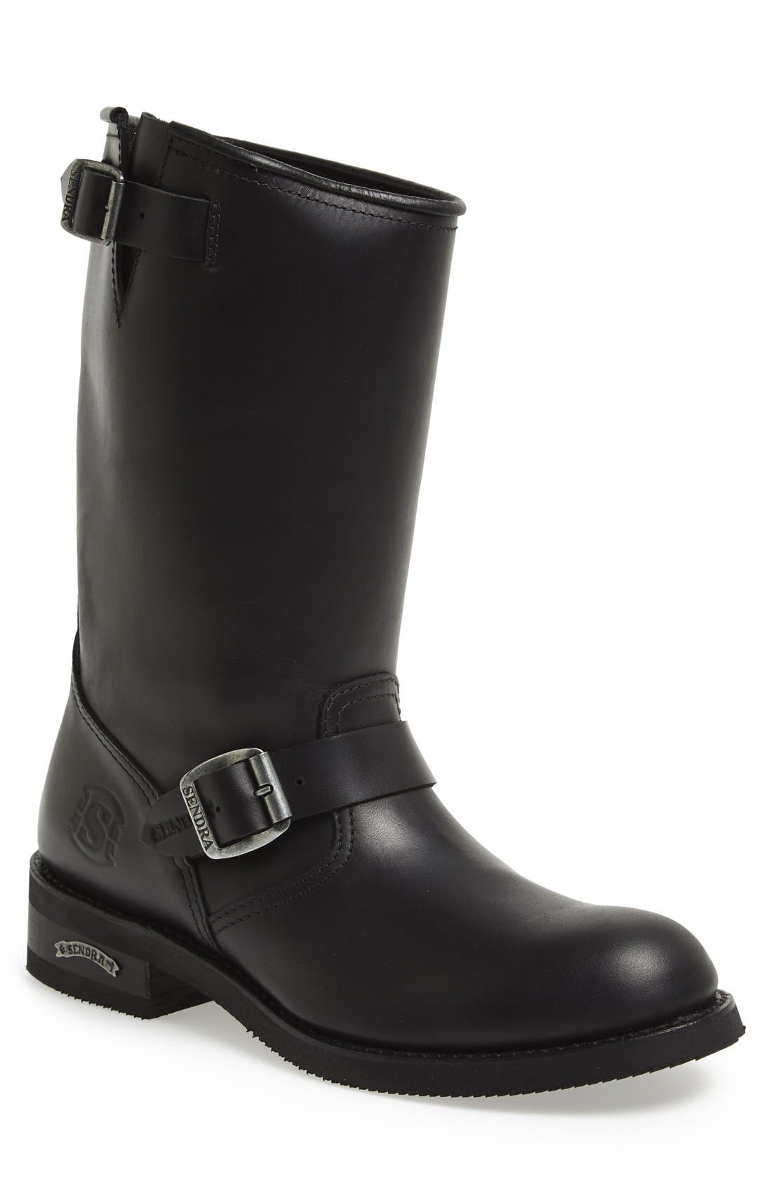 'Engineer' Boot,                         Main,                         color, BLACK