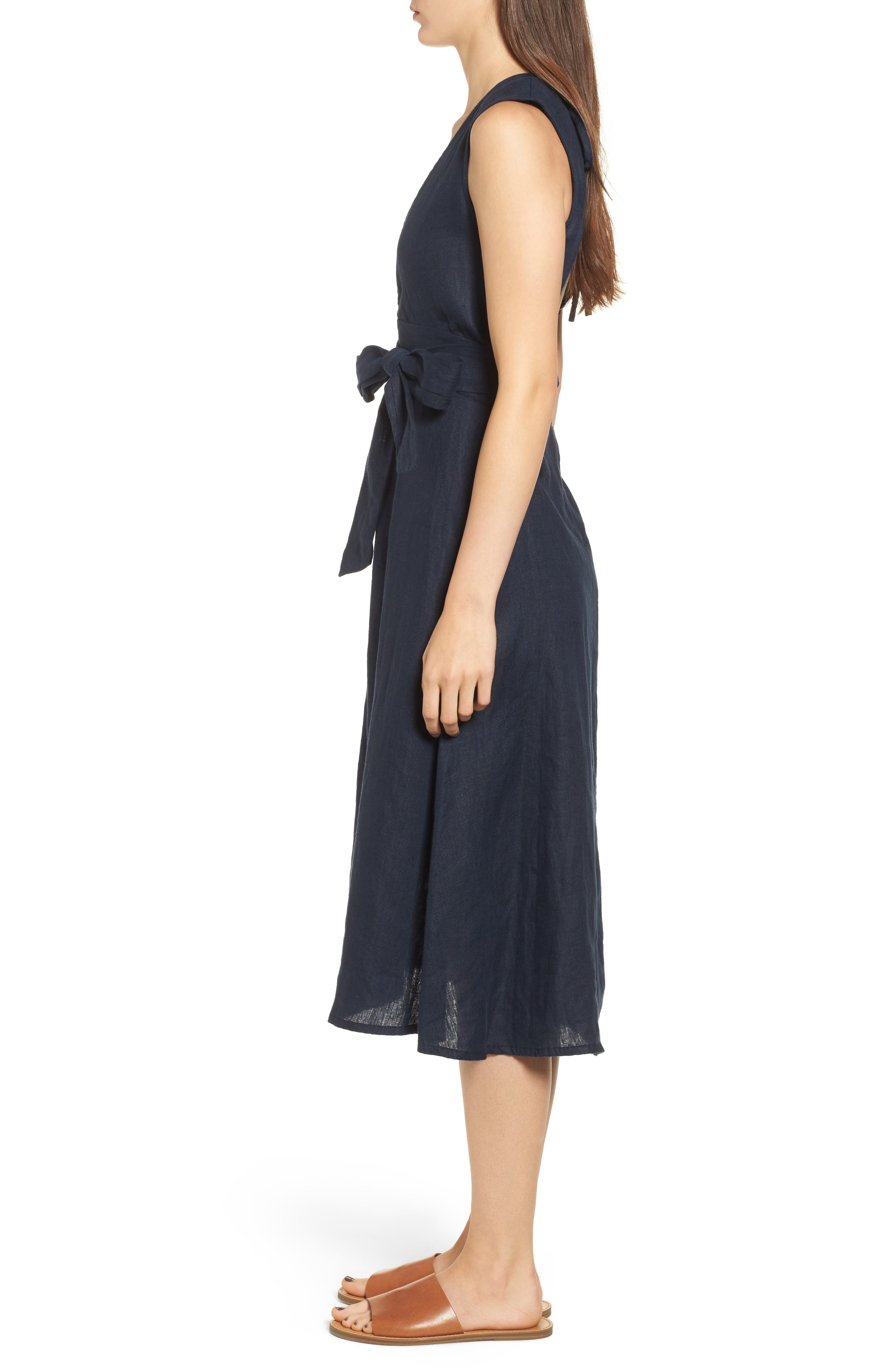Le Roch Midi Dress,                             Alternate thumbnail 3, color,