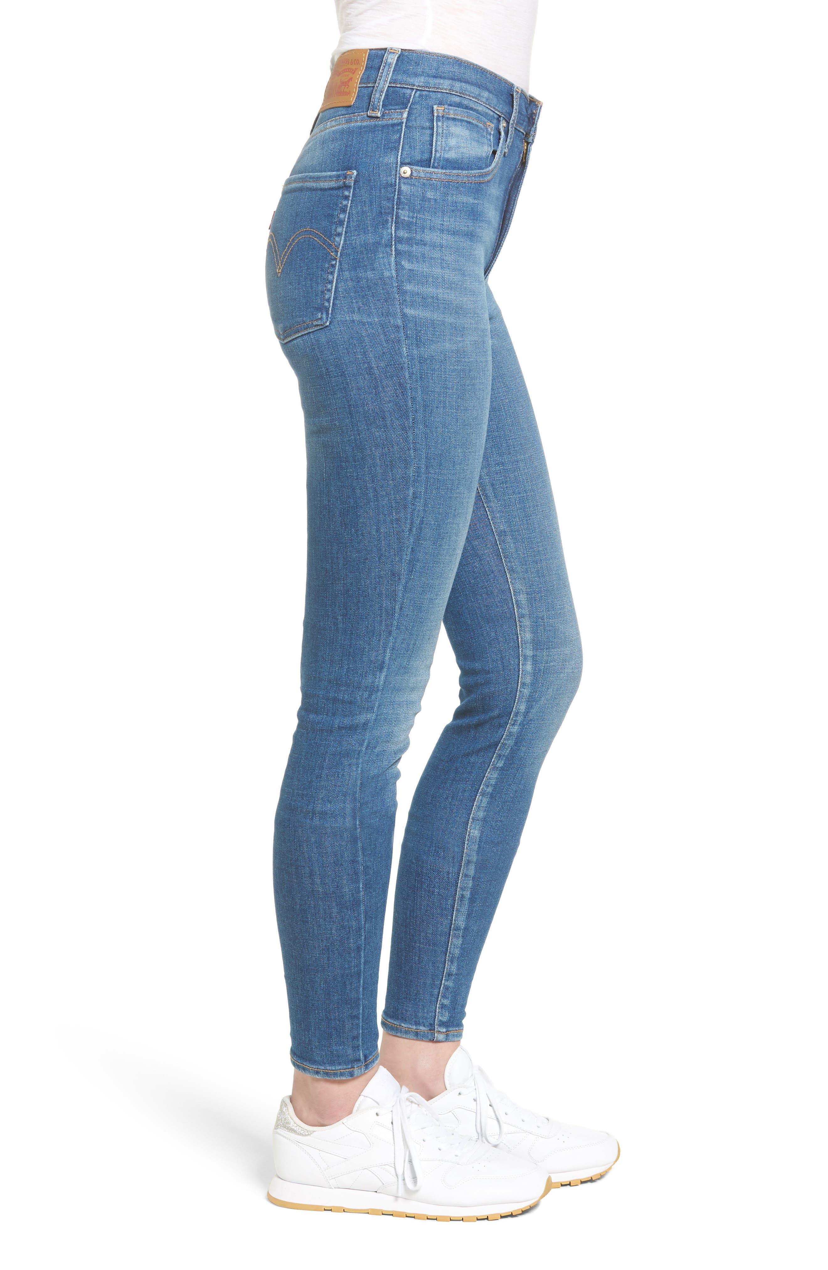 Mile High Skinny Jeans,                             Alternate thumbnail 3, color,