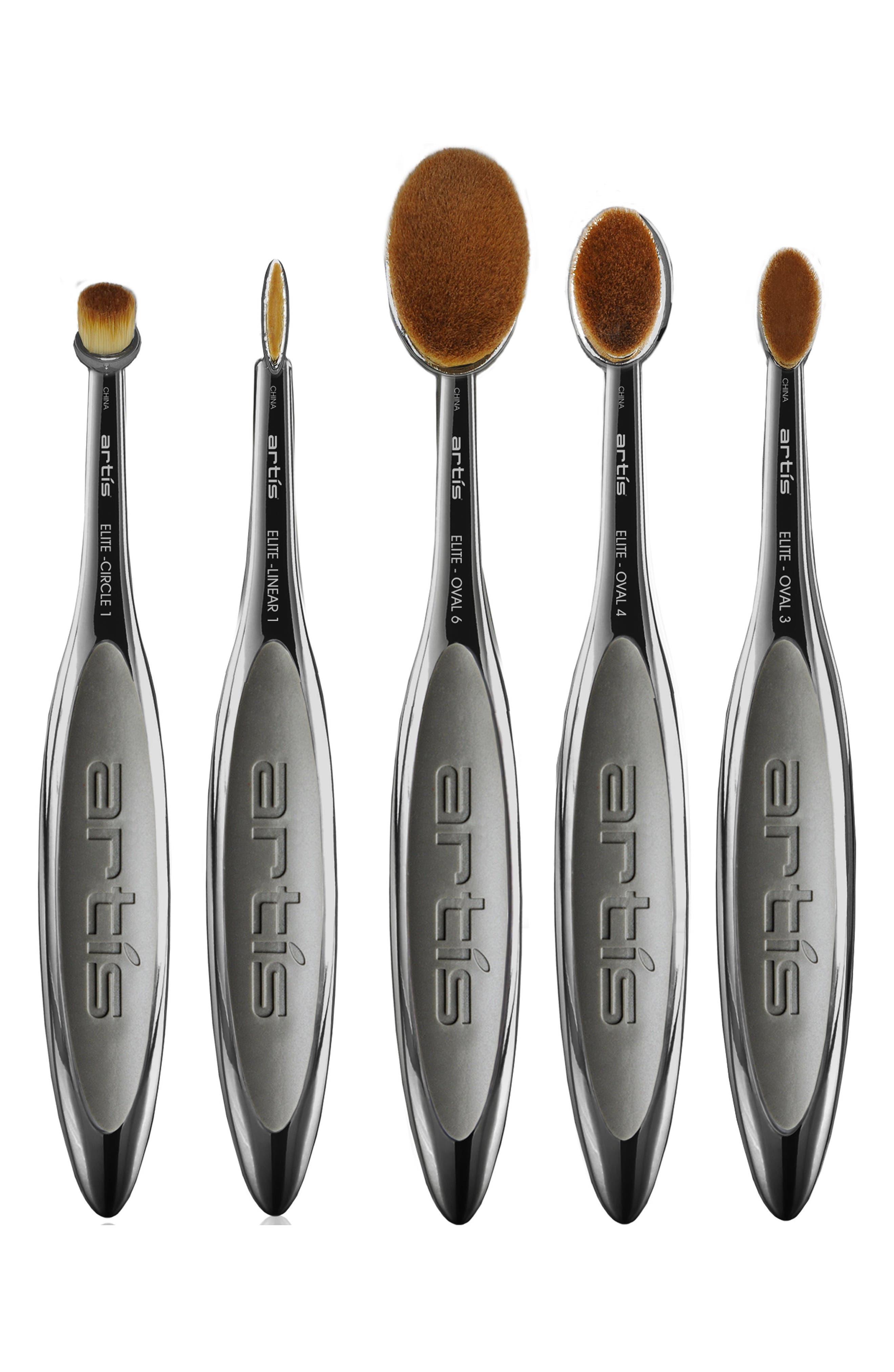 Elite Smoke 5-Piece Brush Set,                             Main thumbnail 1, color,                             NO COLOR
