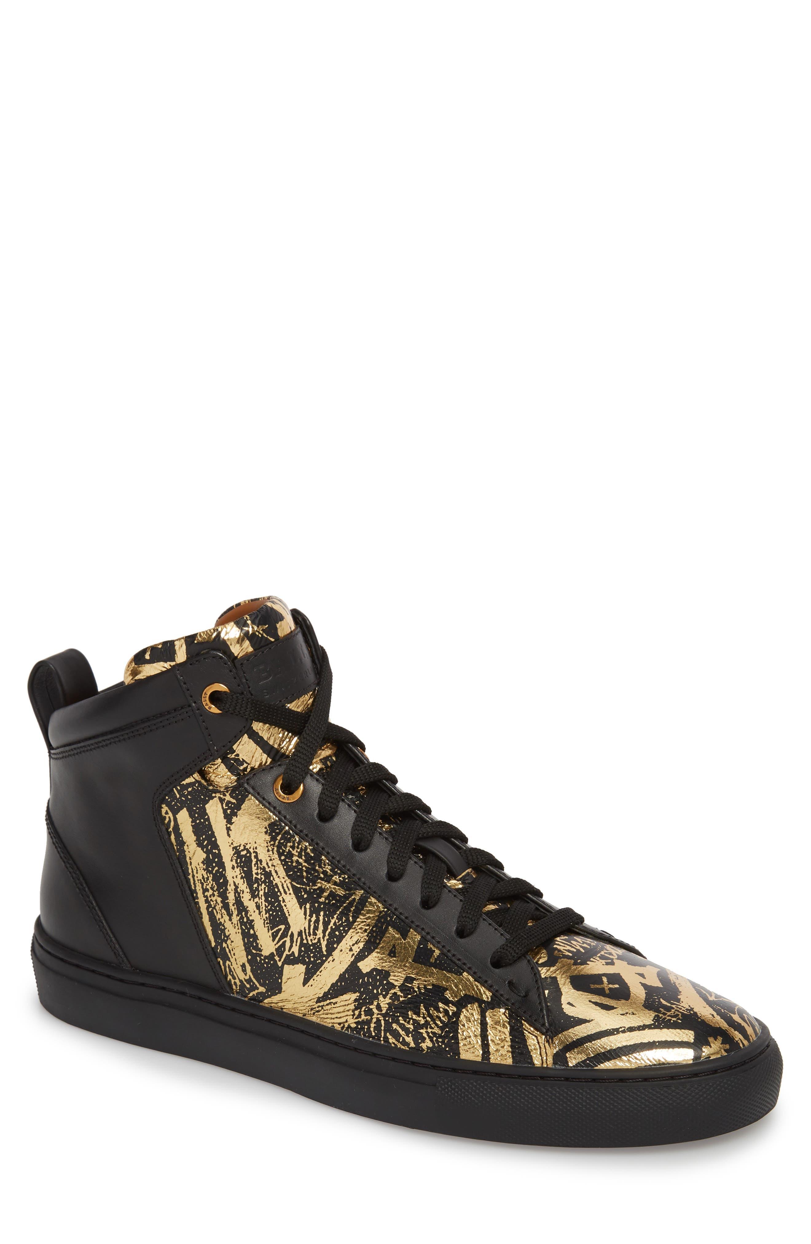 Hedo High Top Sneaker,                             Main thumbnail 1, color,                             GOLD