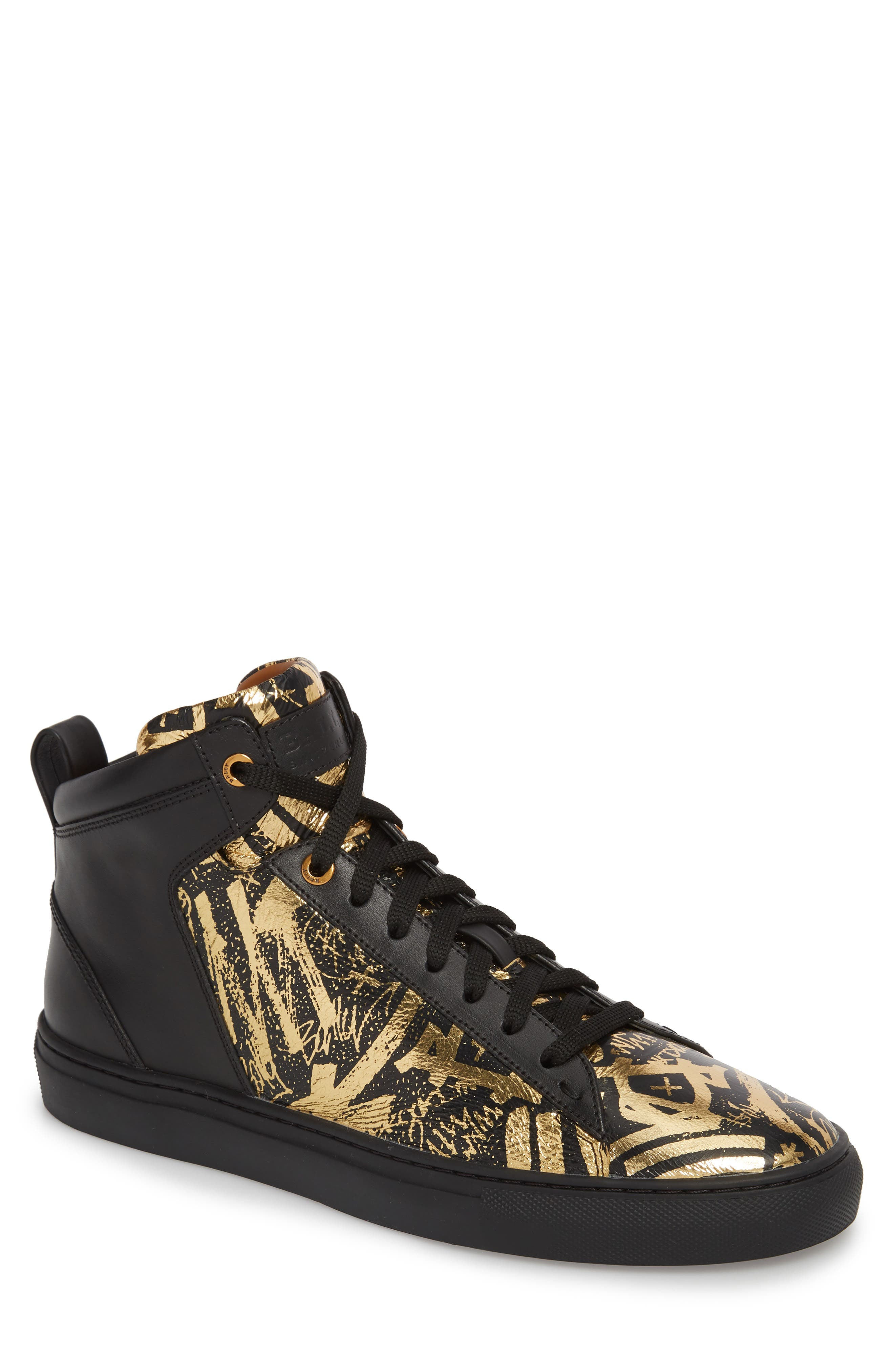 Hedo High Top Sneaker,                         Main,                         color, GOLD