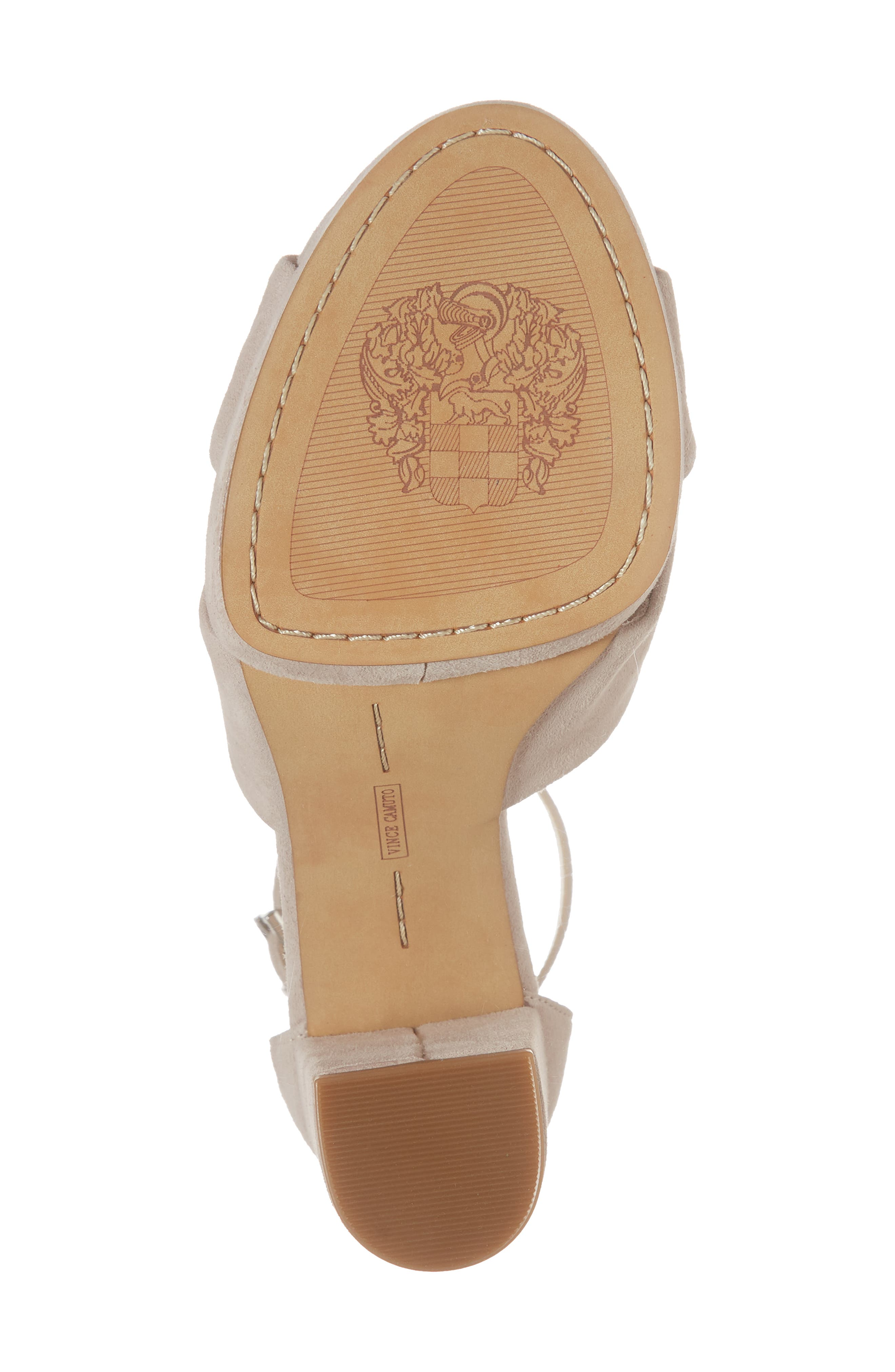Corlesta Sandal,                             Alternate thumbnail 6, color,                             TIPSY TAUPE SUEDE