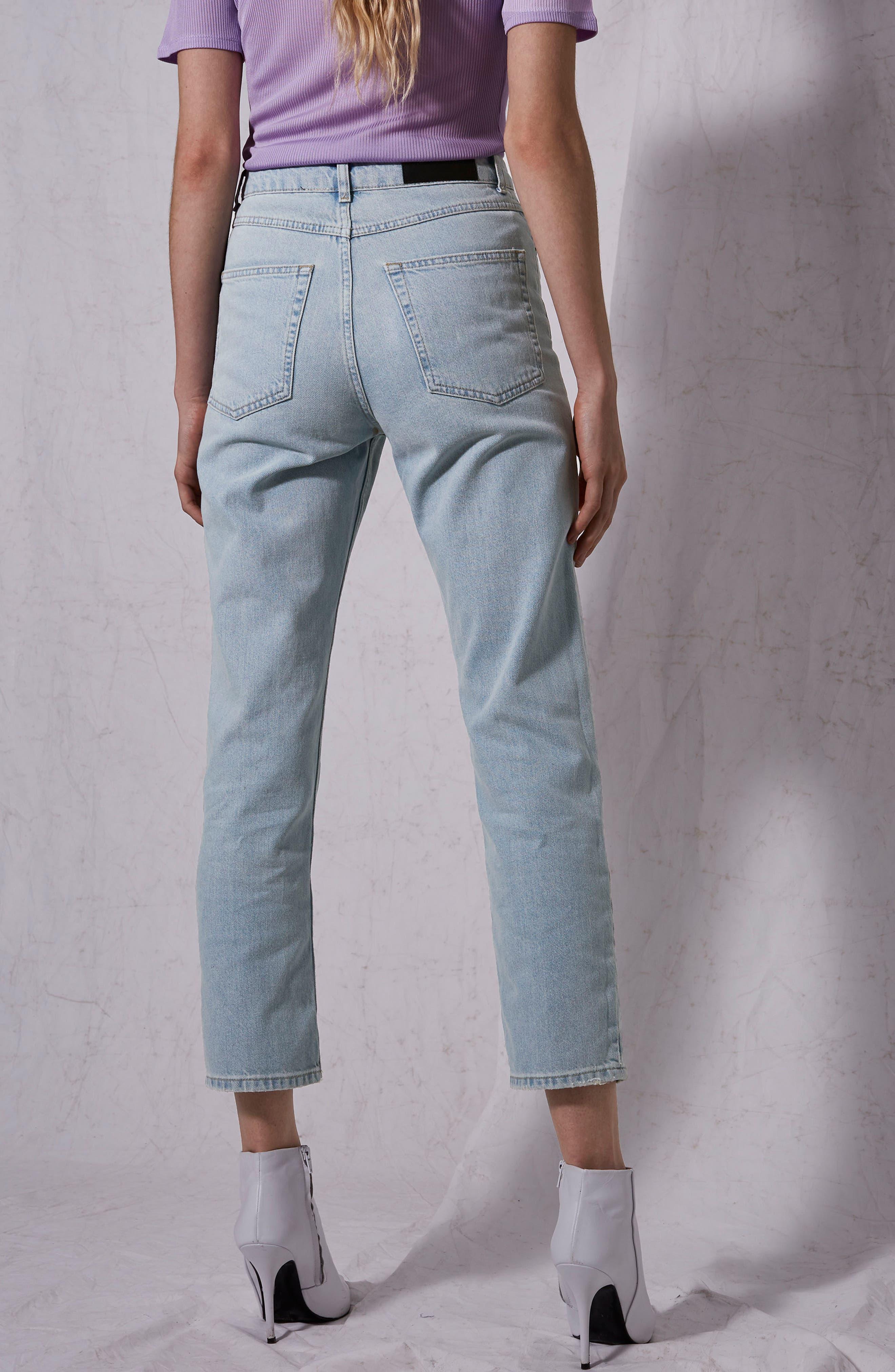Boutique Bleach Denim Jeans,                             Alternate thumbnail 6, color,
