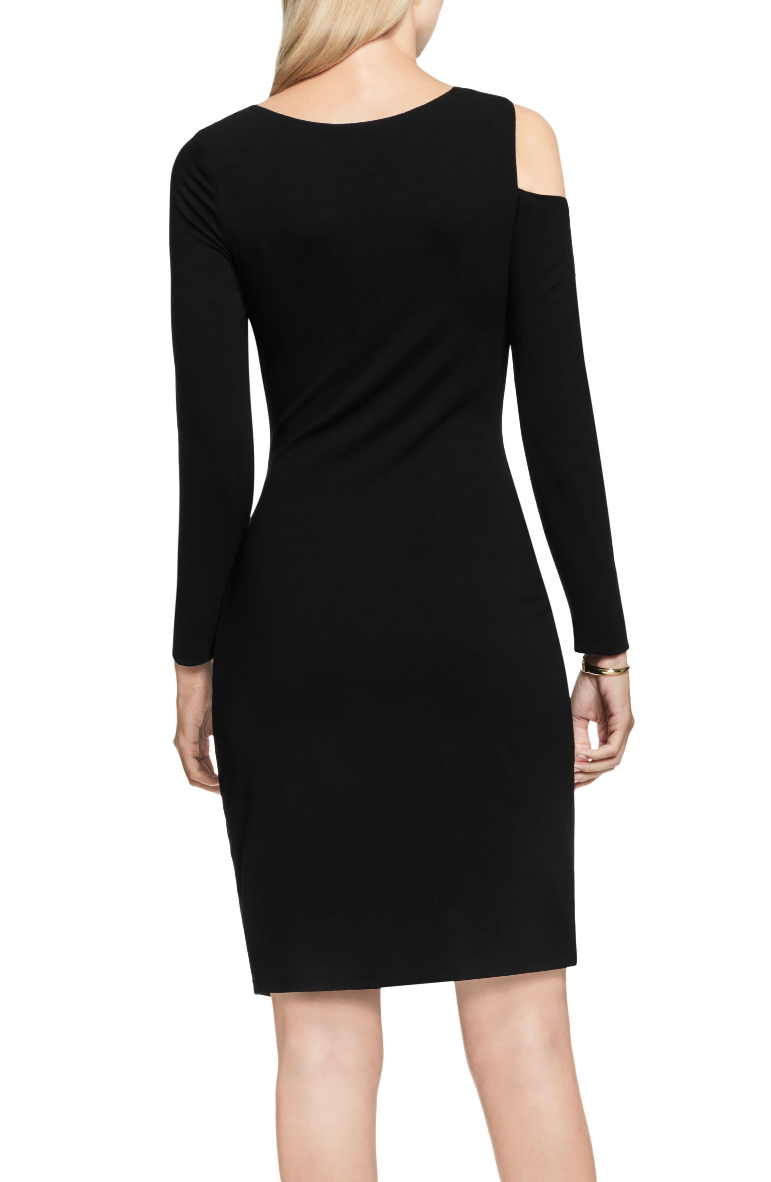 Stretch Knit Sheath Dress,                             Main thumbnail 1, color,                             001