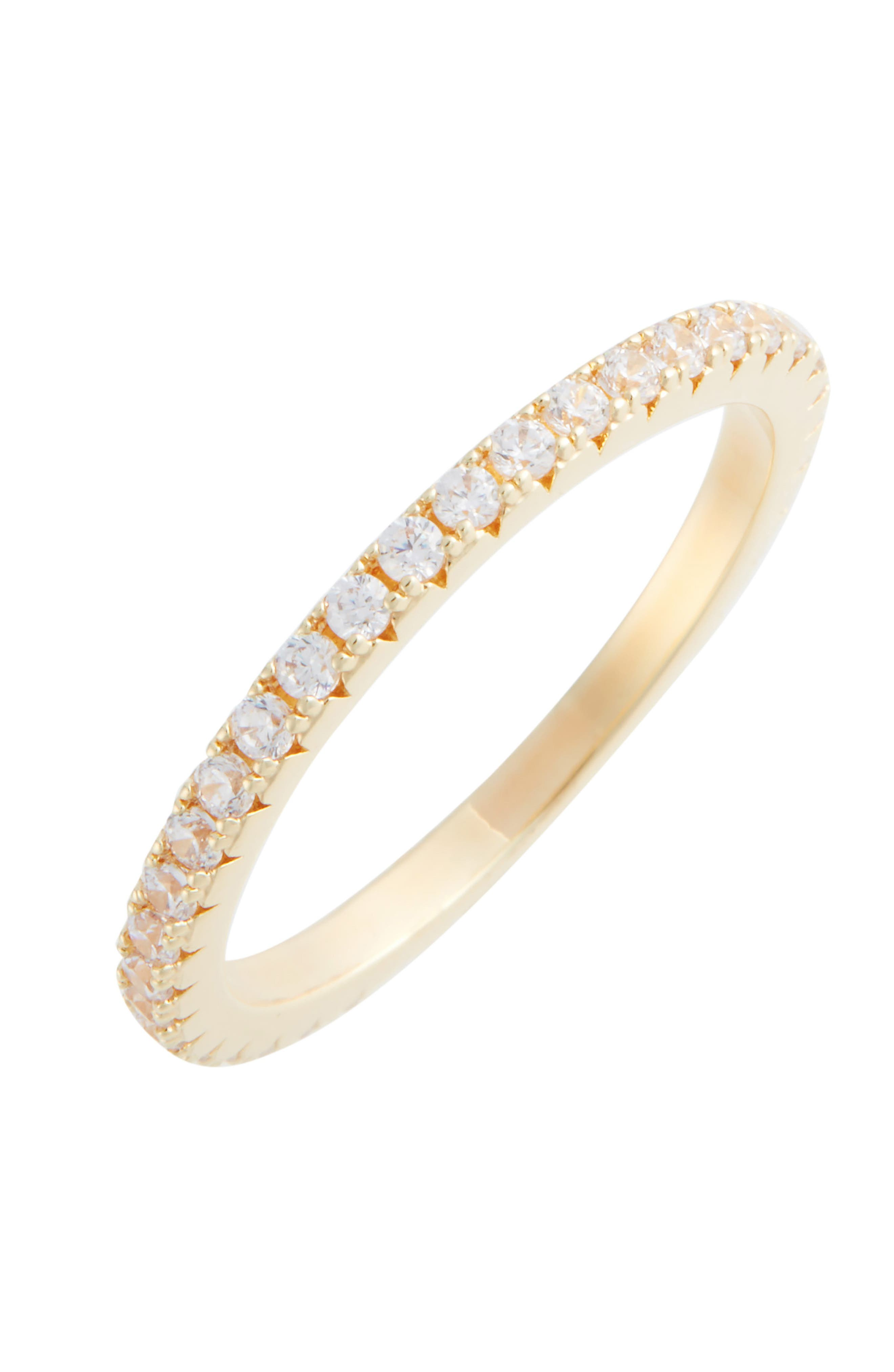 Pavé Eternity Band,                             Main thumbnail 1, color,                             CLEAR- GOLD