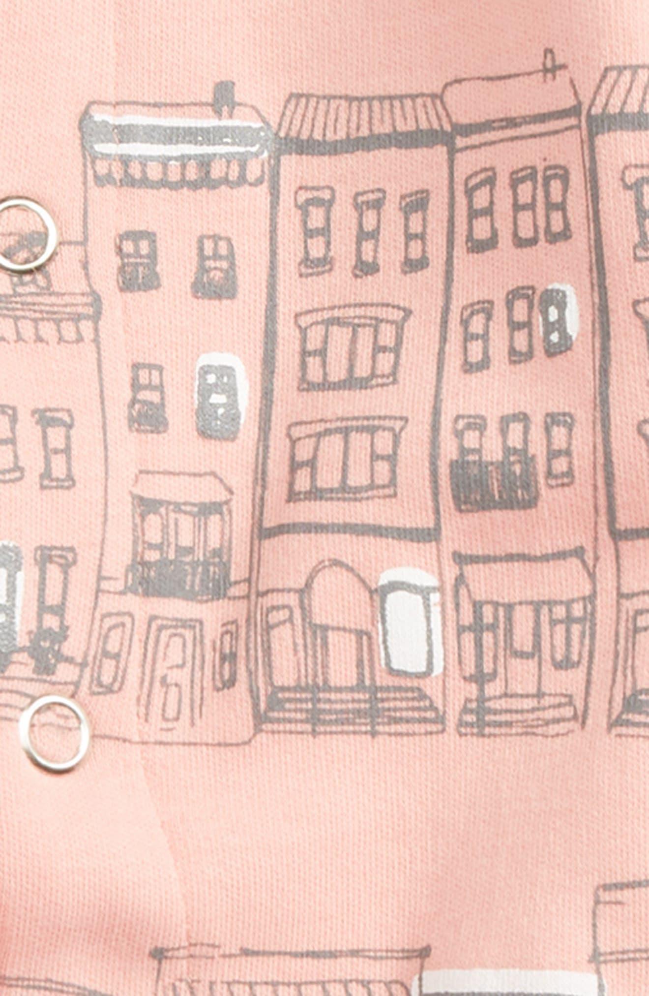 City Block Organic Cotton Footie,                             Alternate thumbnail 4, color,
