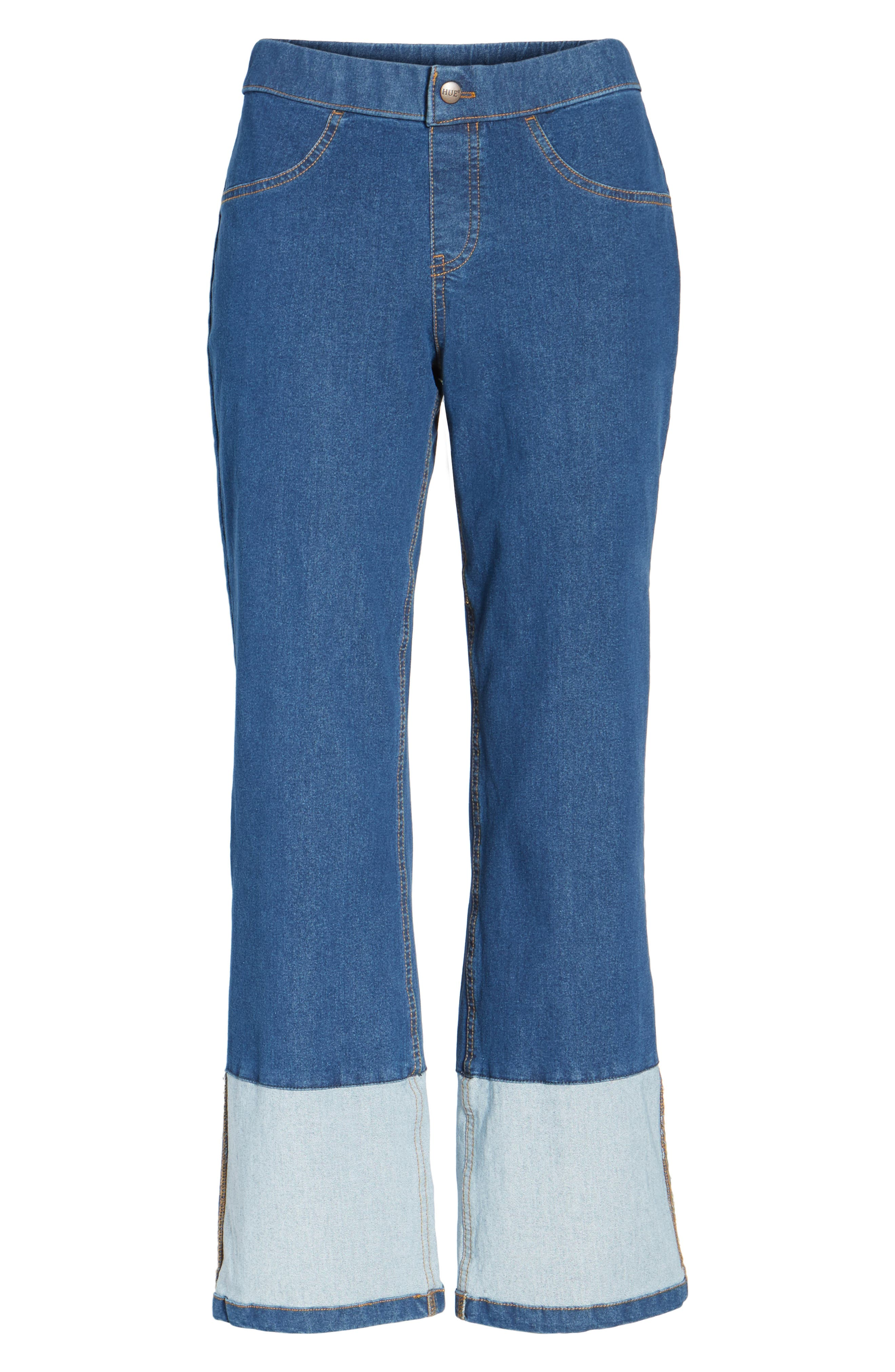 Crop Denim Pants,                             Alternate thumbnail 6, color,