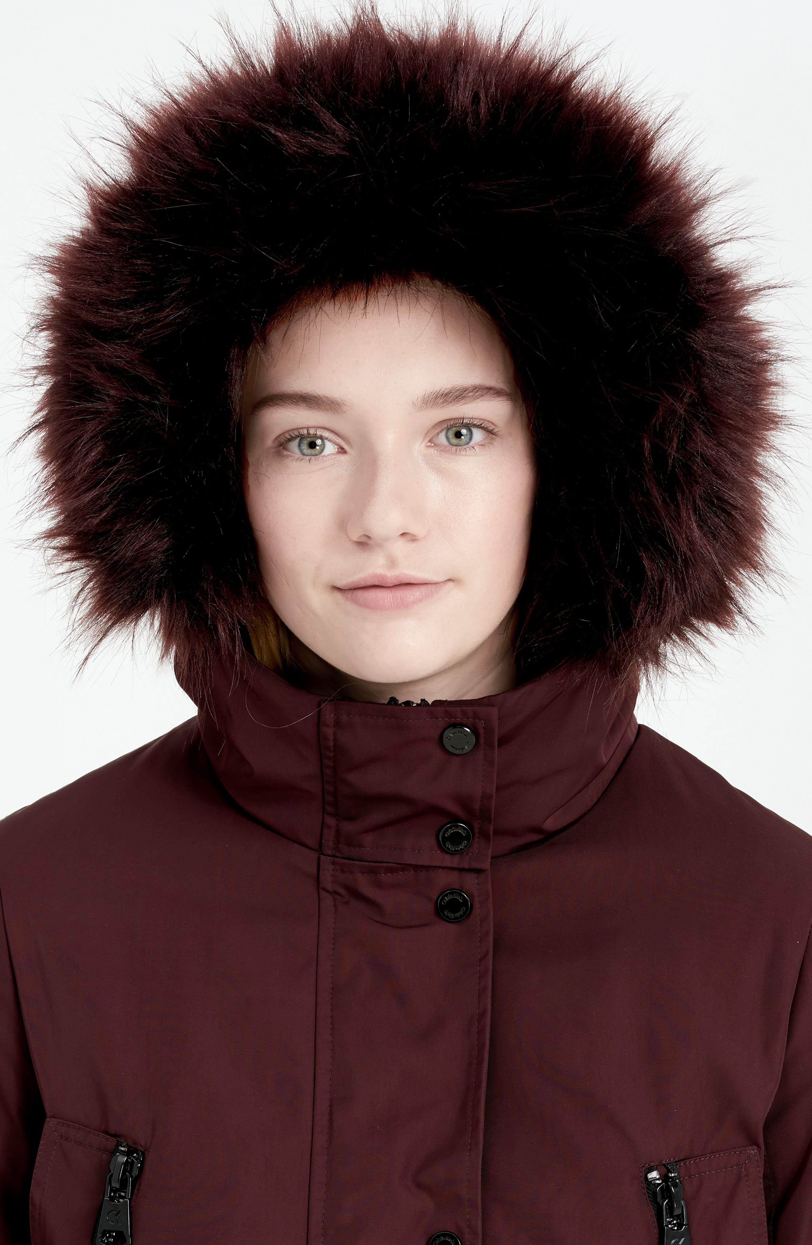Expedition Hooded Down Parka with Faux Fur Trim,                             Alternate thumbnail 8, color,