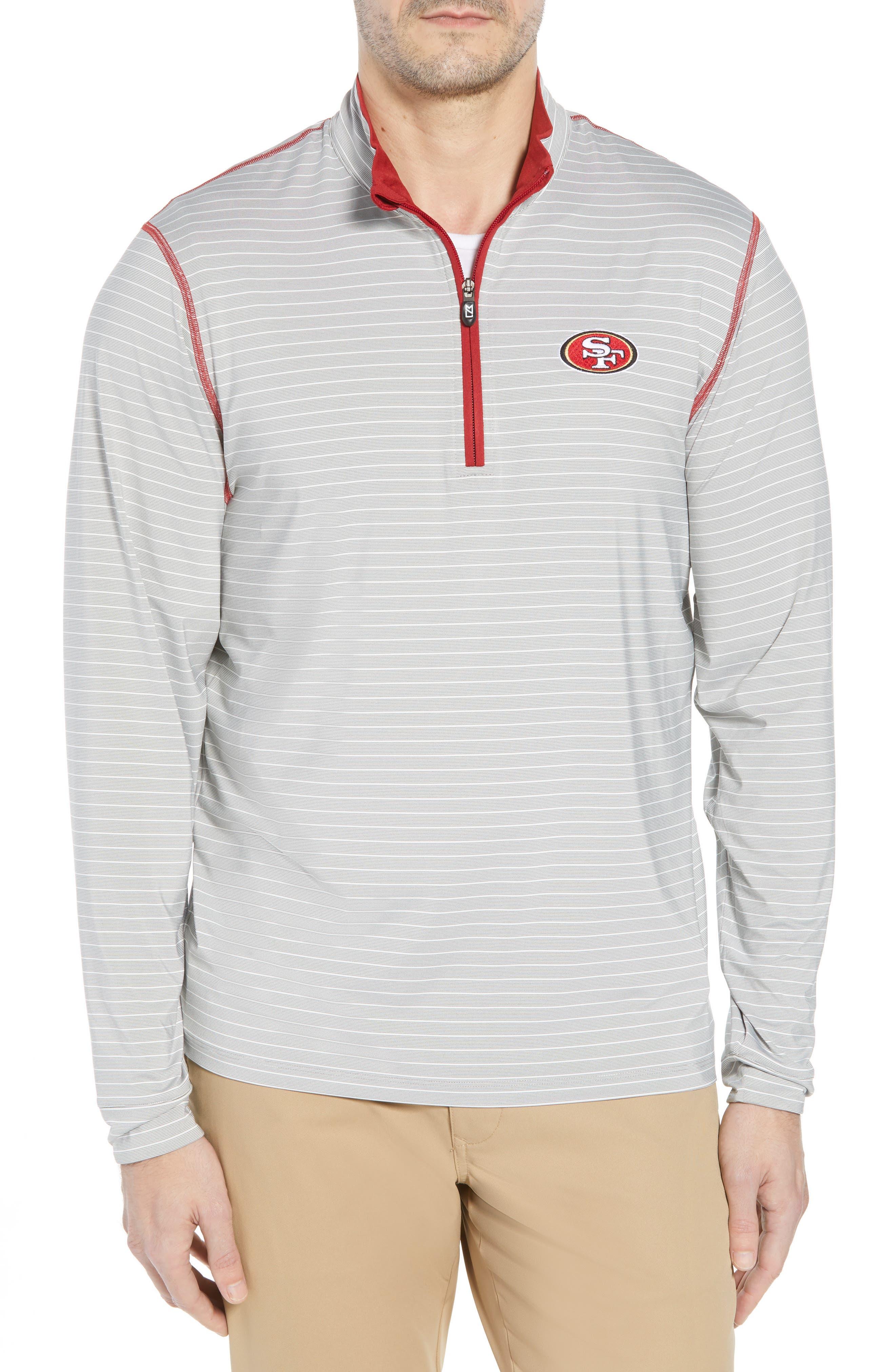 Meridian - San Francisco 49ers Regular Fit Half Zip Pullover,                             Main thumbnail 1, color,                             RED