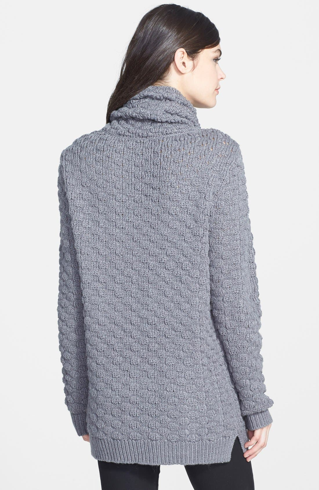 Textured Funnel Neck Sweater,                             Alternate thumbnail 3, color,                             020