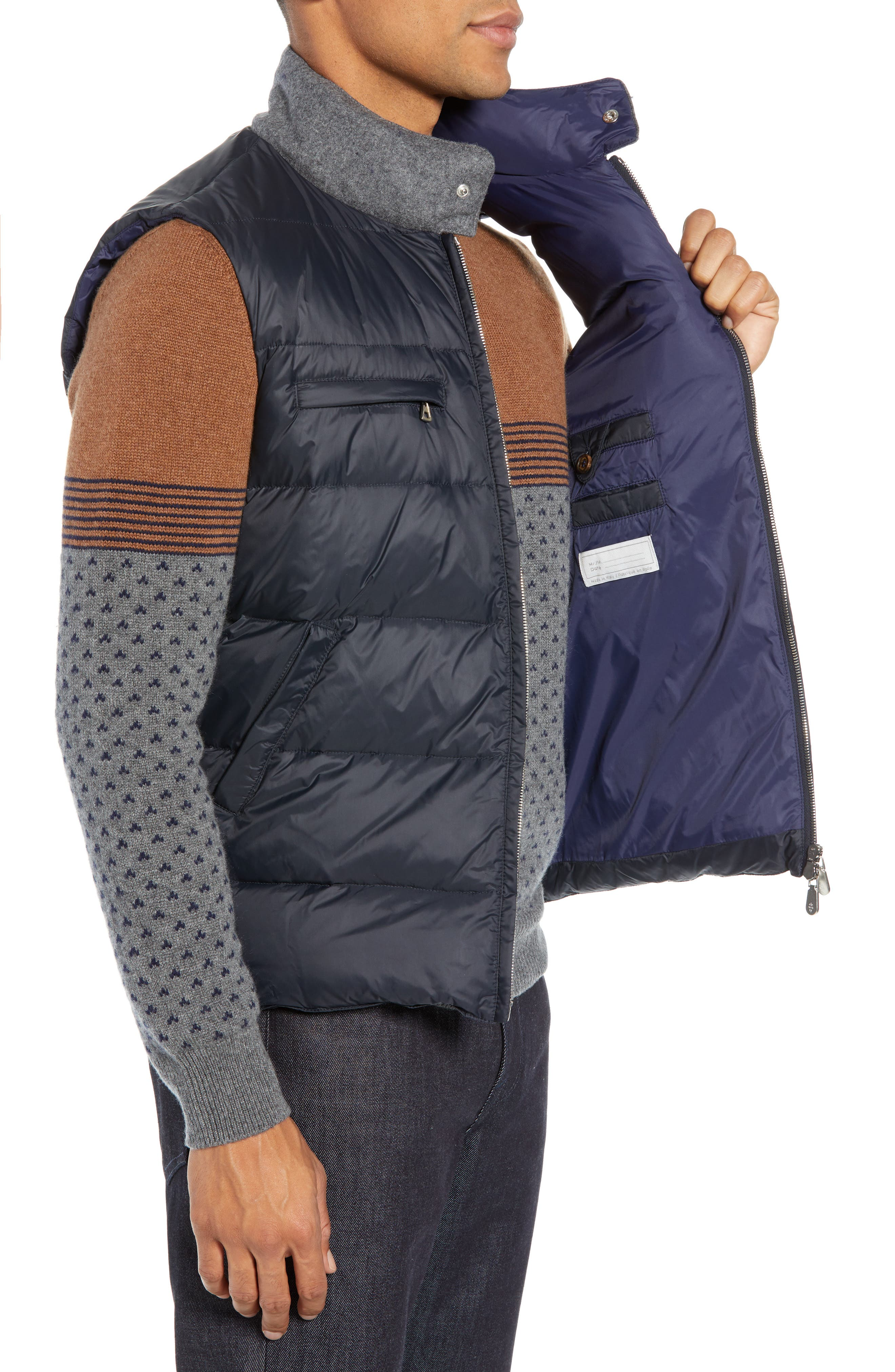 Quilted Vest,                             Alternate thumbnail 3, color,                             NAVY