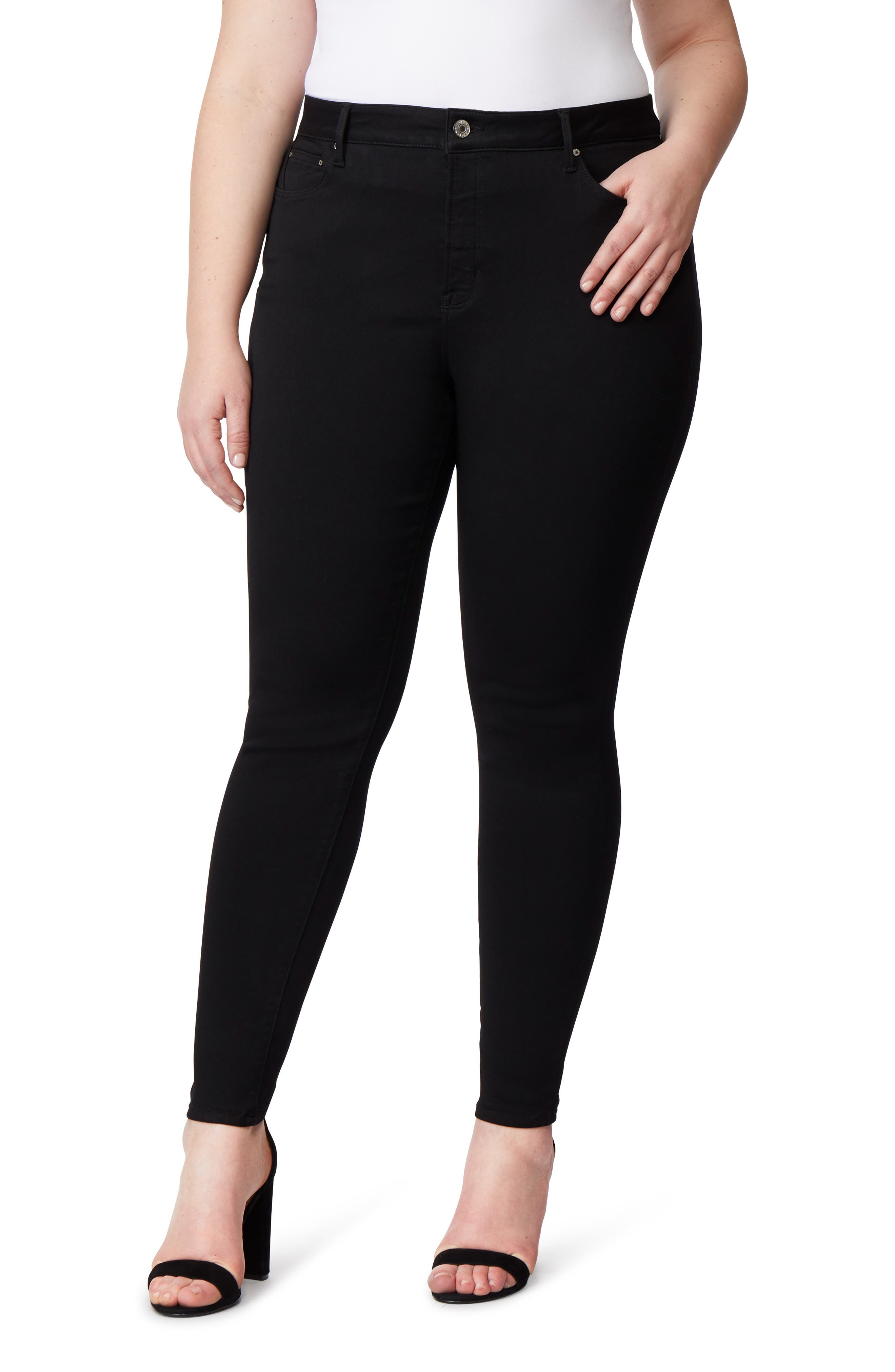 Pin-Up Skinny Jeans,                         Main,                         color, ECLIPSE