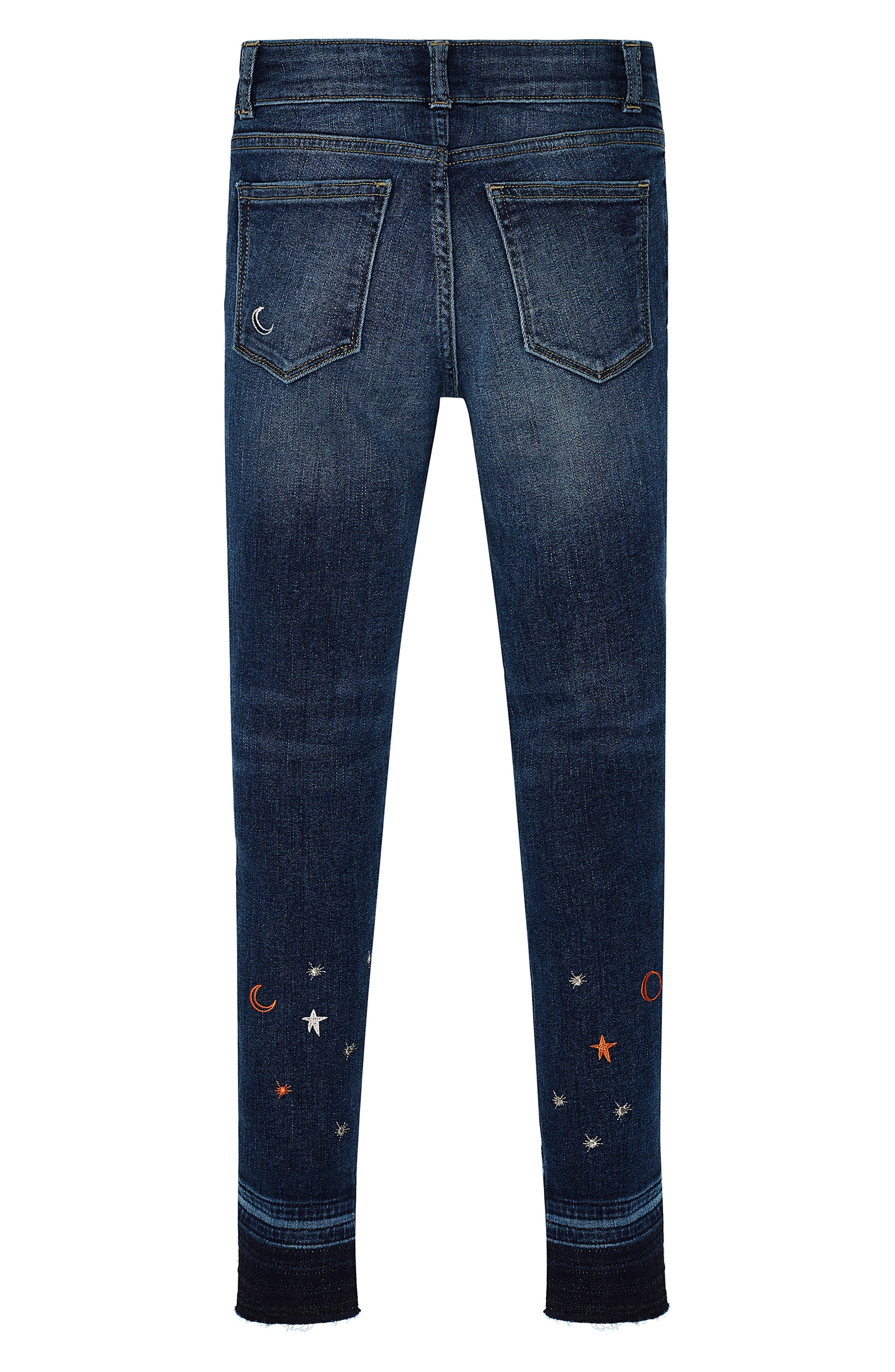 Chloe Galaxy Embroidered Skinny Jeans,                             Alternate thumbnail 2, color,