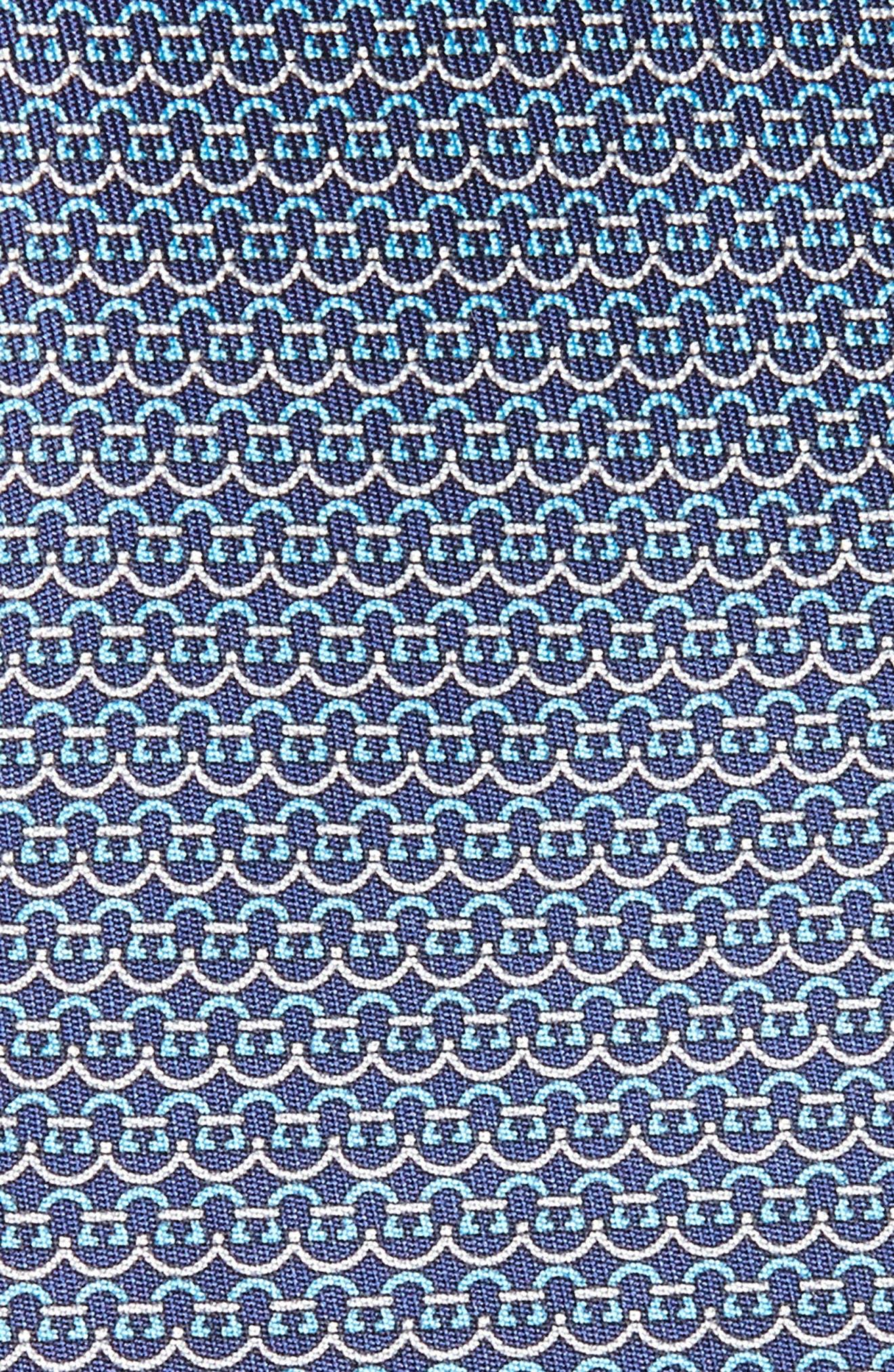 Gancini Silk Tie,                             Alternate thumbnail 7, color,