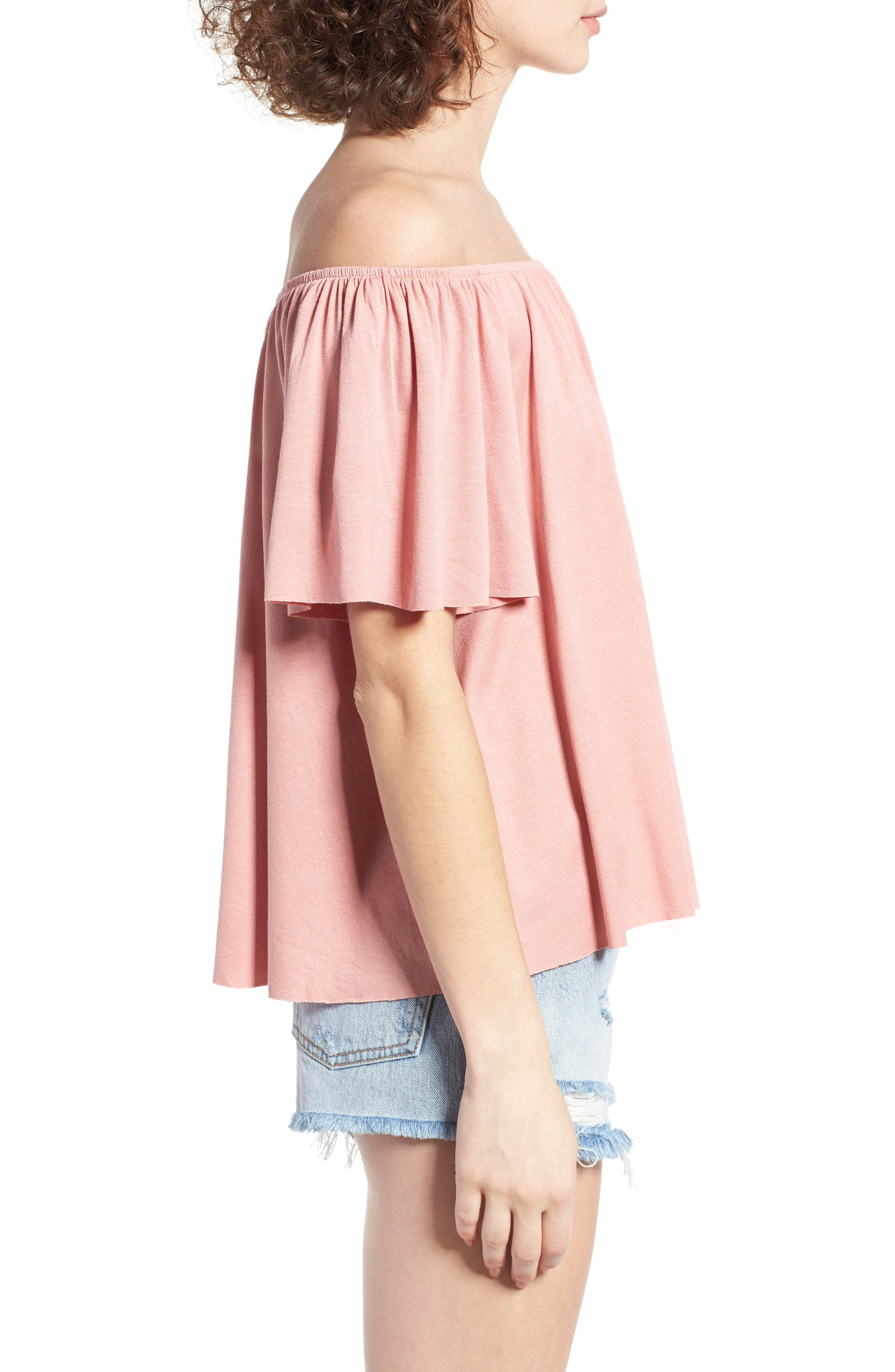 Off the Shoulder Top,                             Alternate thumbnail 23, color,
