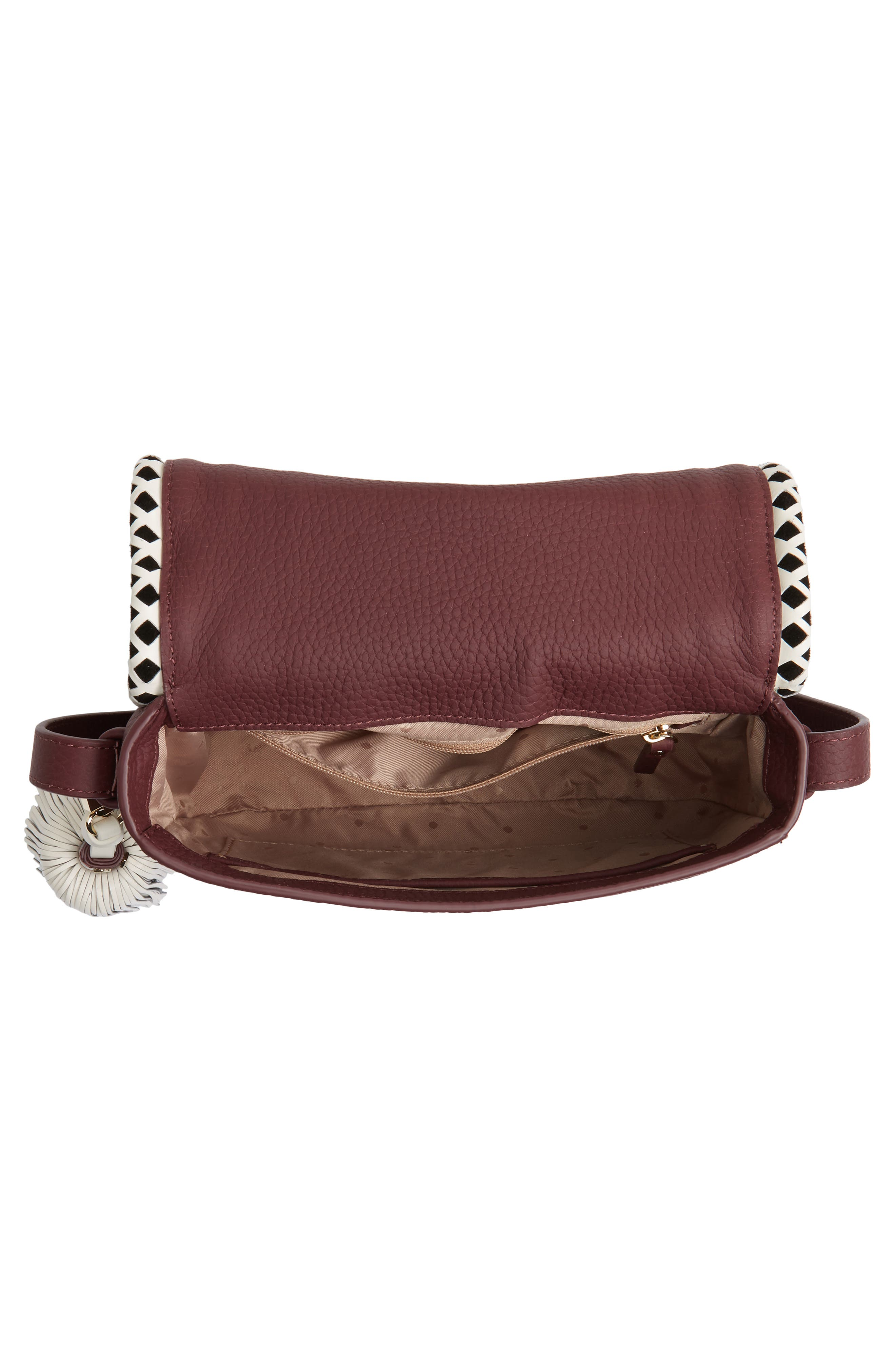 crown street - jasper leather saddle bag,                             Alternate thumbnail 8, color,
