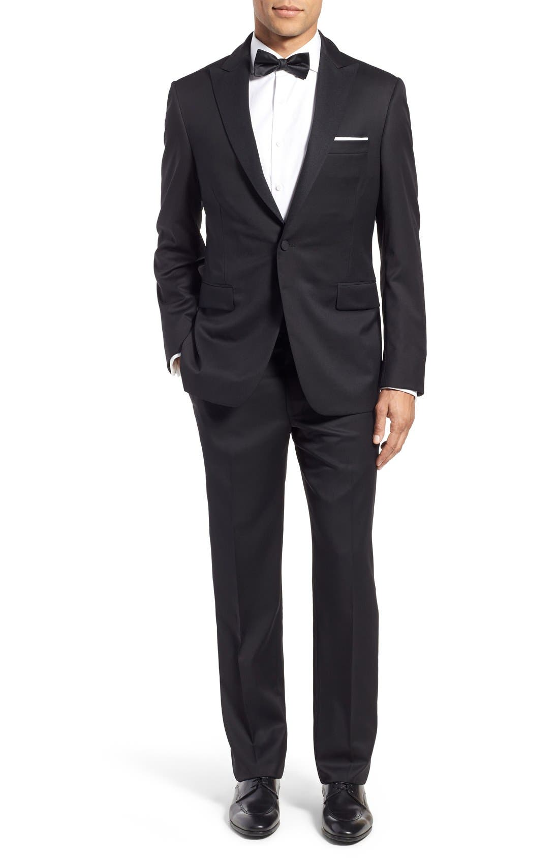 Classic Fit Wool Tuxedo,                             Main thumbnail 1, color,                             001