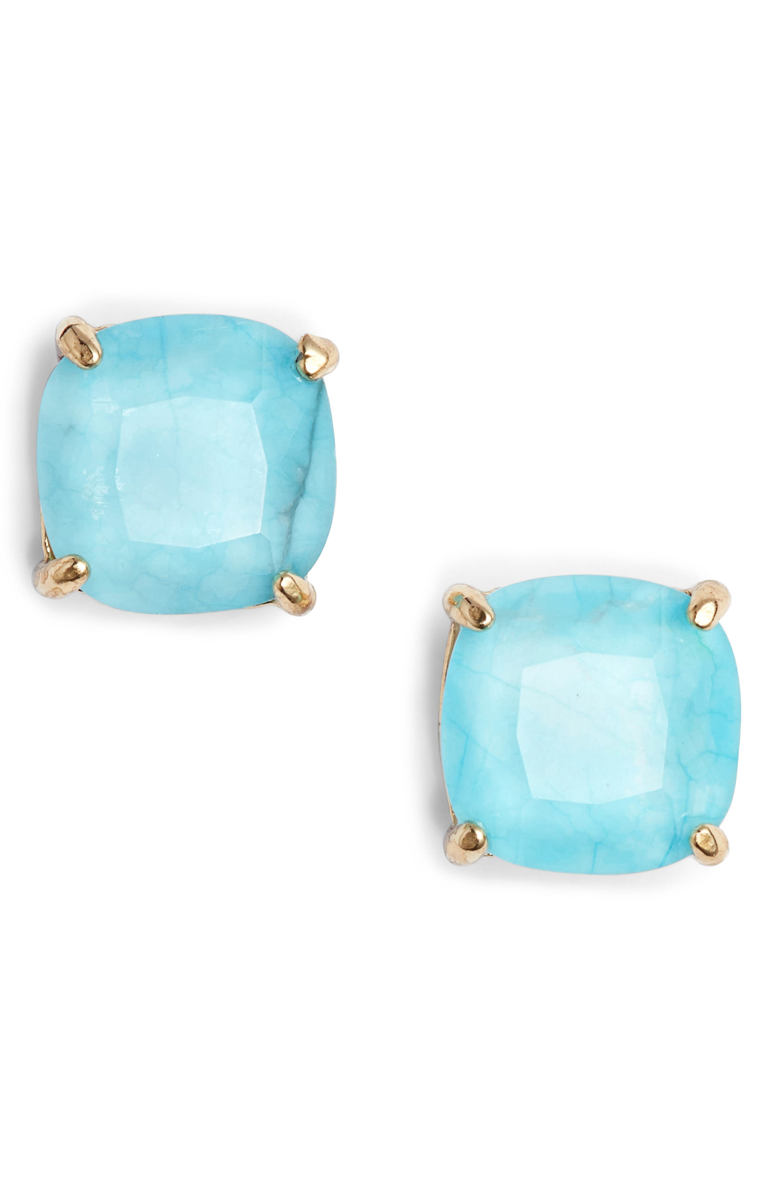 mini small square stud earrings,                         Main,                         color,
